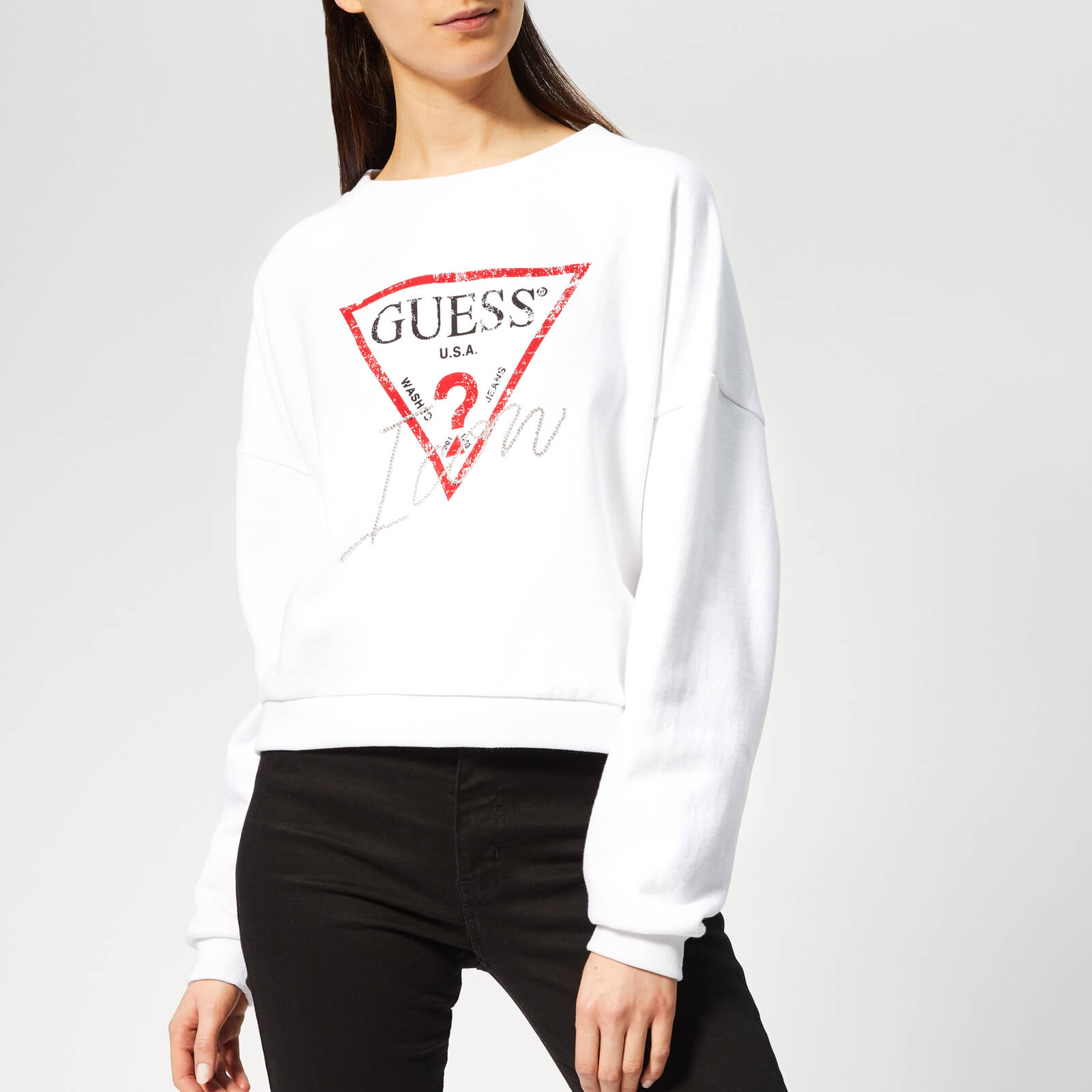 Guess Women's Icon Sweater True White