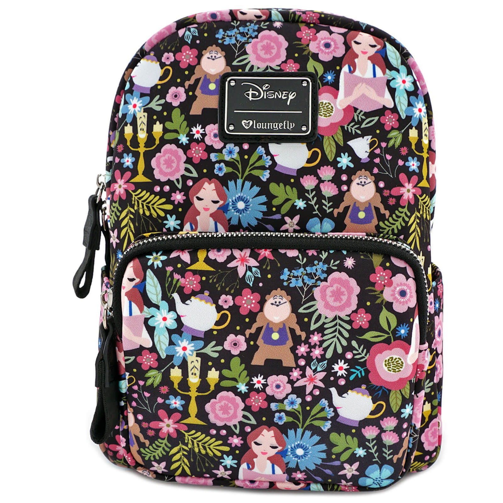11325845448 Loungefly Disney Beauty and the Beast Belle Floral Aop Mini Backpack  Merchandise