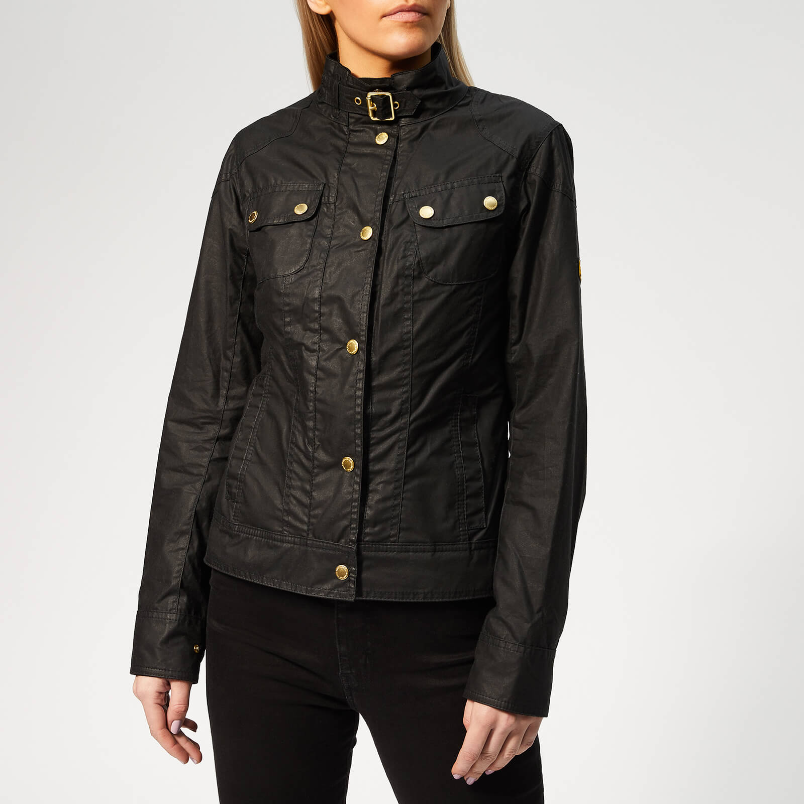 e21c0d96a Barbour International Women's Pitch Wax Jacket - Black