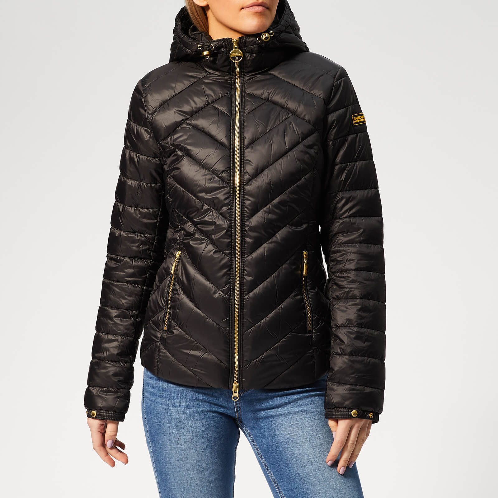 f33cd49a90e77 Barbour International Women s Durant Quilt Jacket - Black - Free UK  Delivery over £50