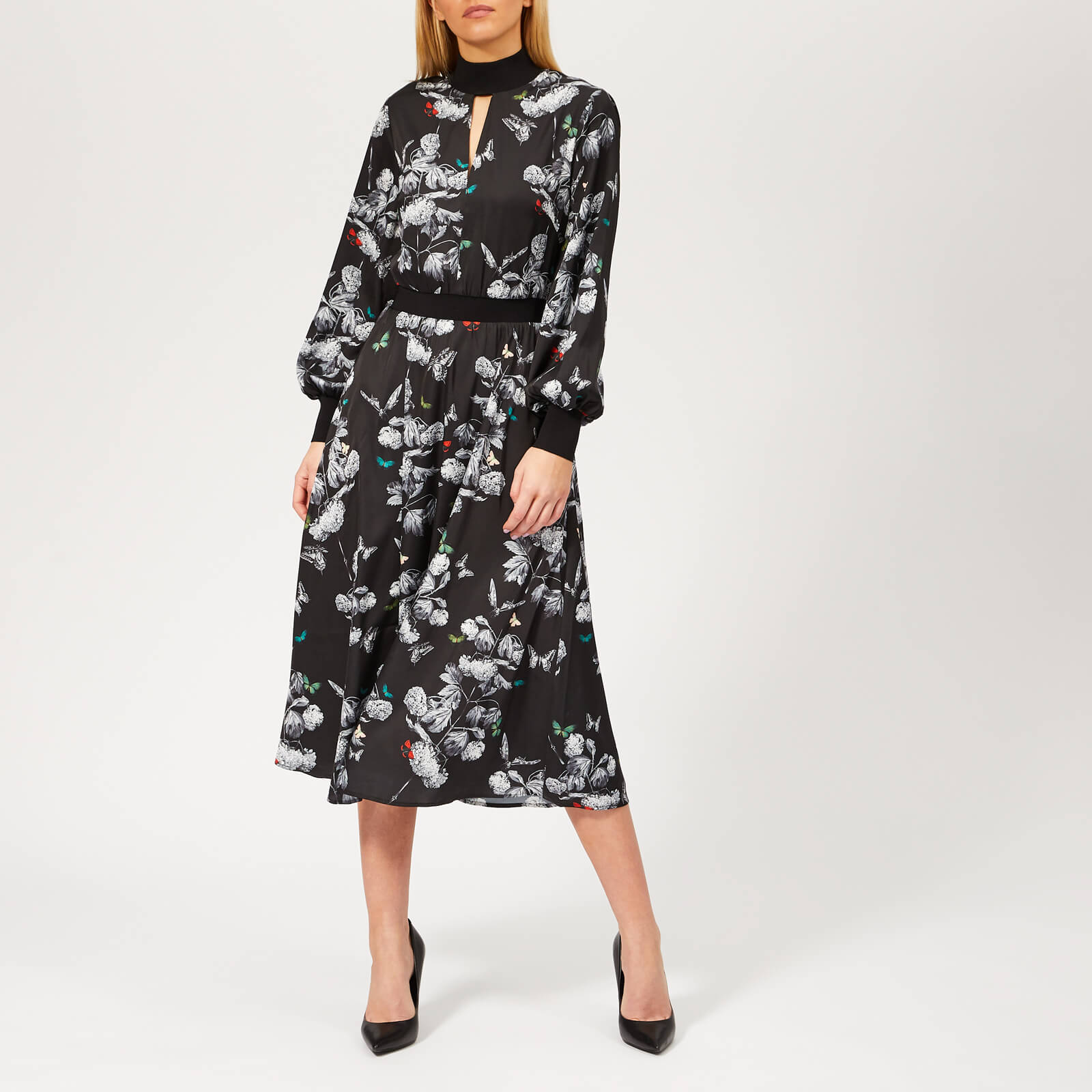 92c0c318c33 Ted Baker Women's Eynah Narrnia Midi Dress - Black Womens Clothing |  TheHut.com