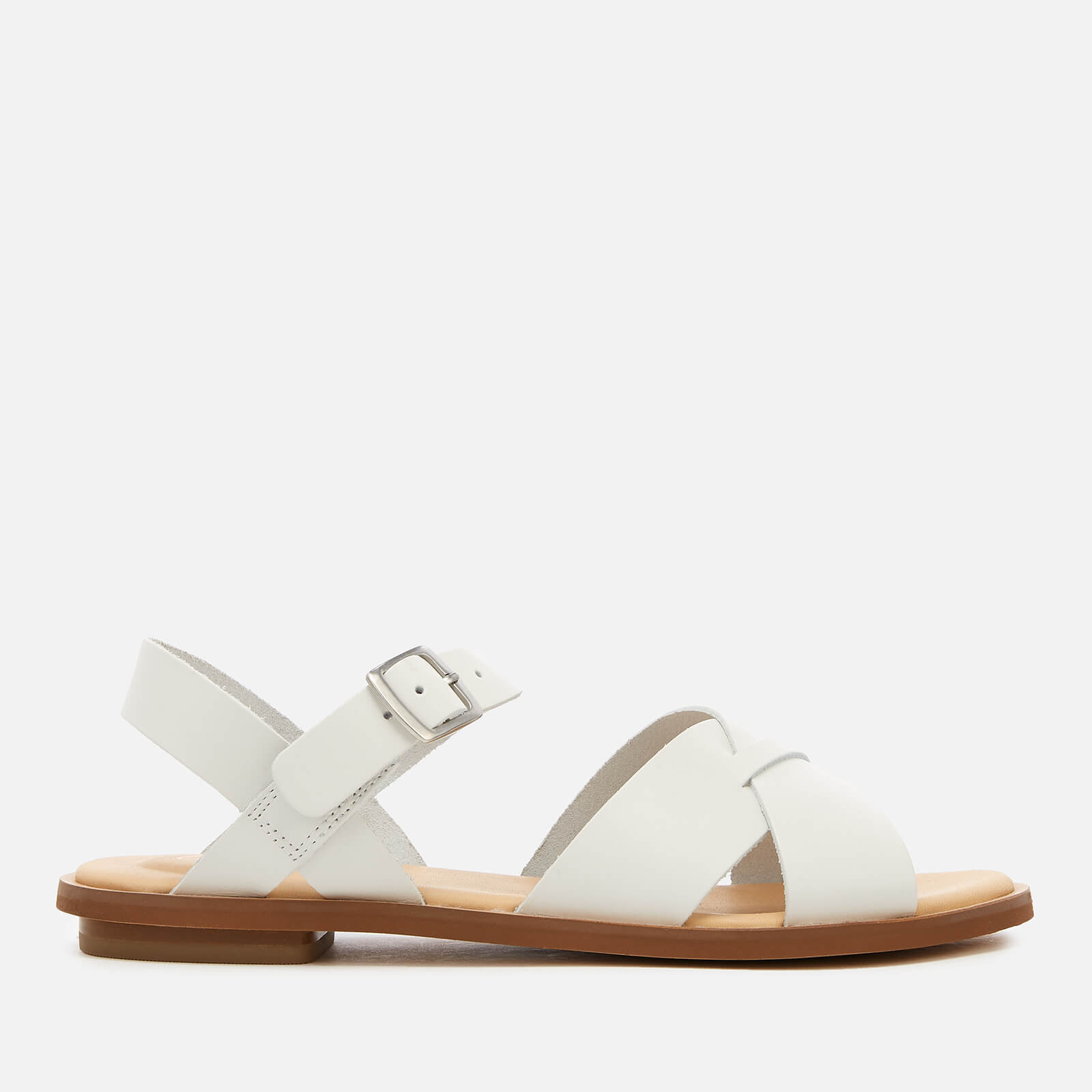 Clarks Women's Willow Gild Leather Sandals - White