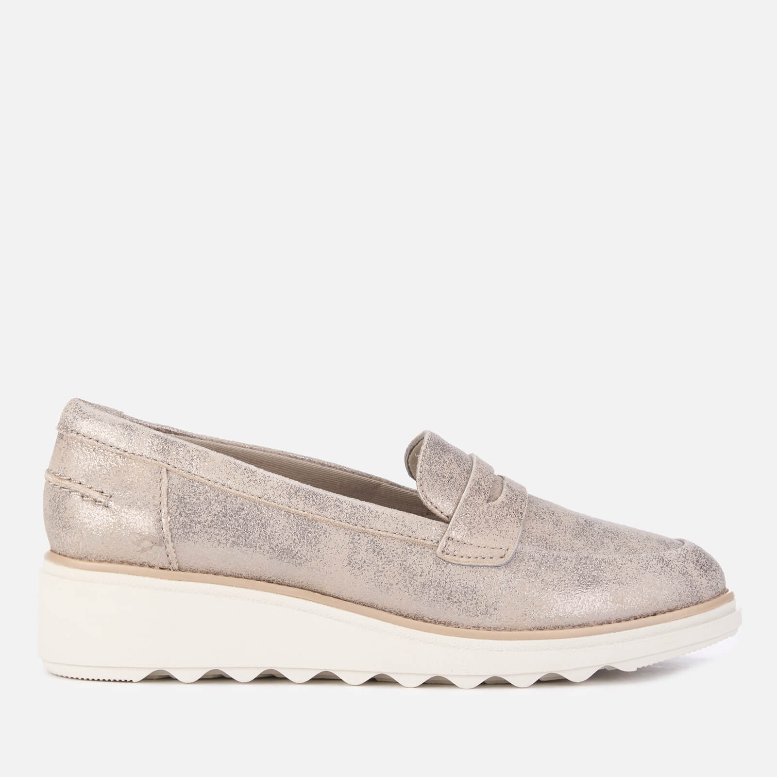 41172ed205994 Clarks Women's Sharon Ranch Suede Loafers - Pewter   FREE UK Delivery    Allsole