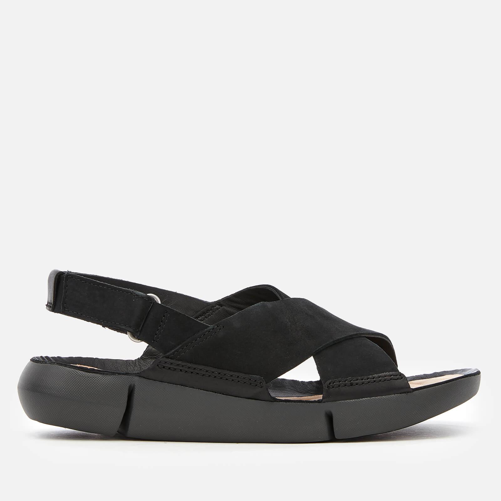 Clarks Women s Tri Chloe Cross Strap Sandals - Black Combi Womens ...