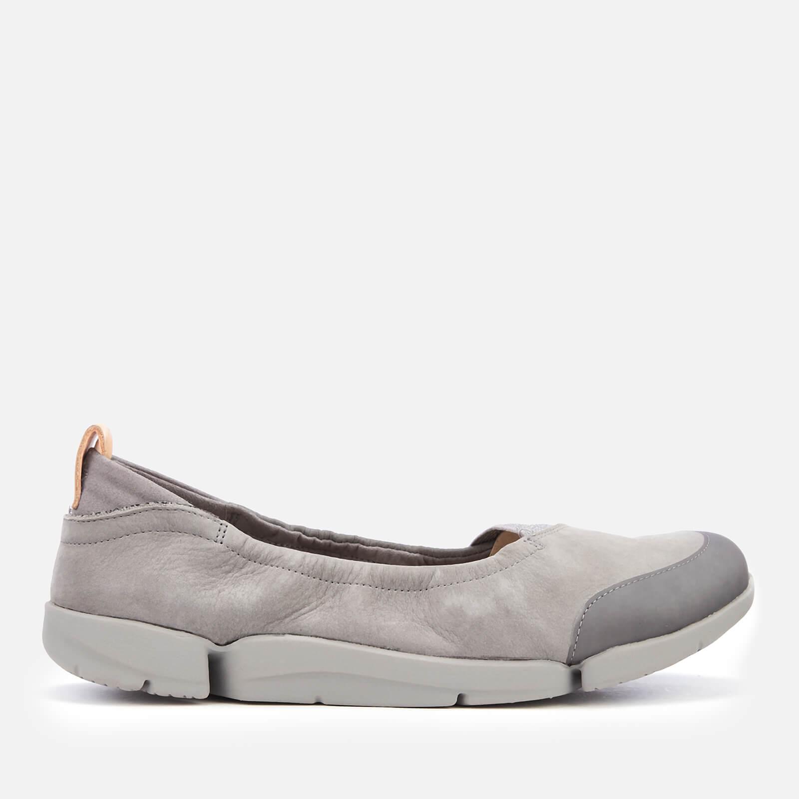 c76930a840 Clarks Women's Tri Adapt Nubuck Flats - Grey Womens Footwear ...