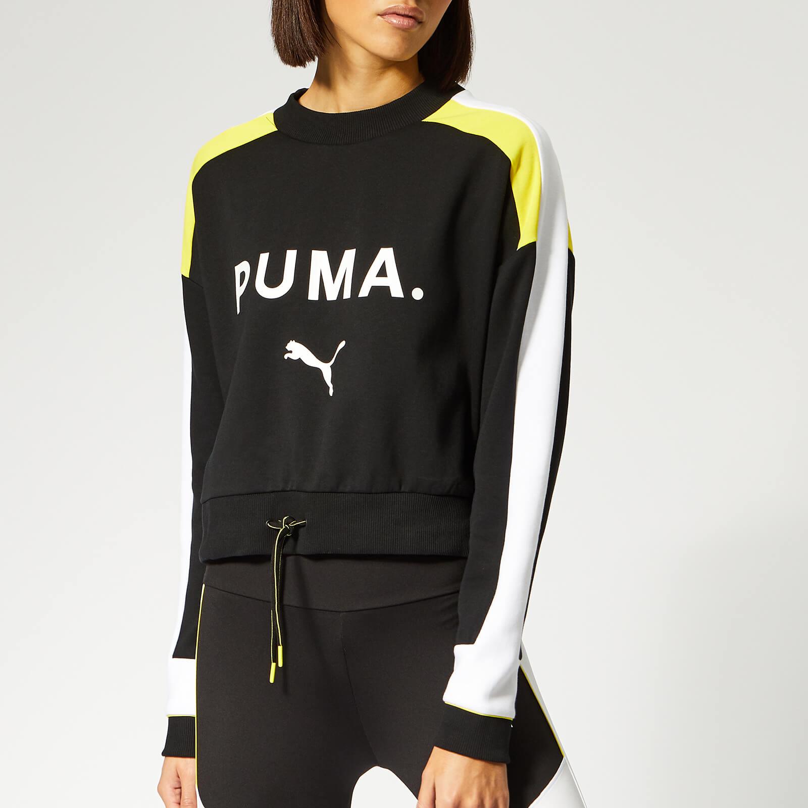 Puma Women's Chase Crew Neck Sweatshirt Cotton Black