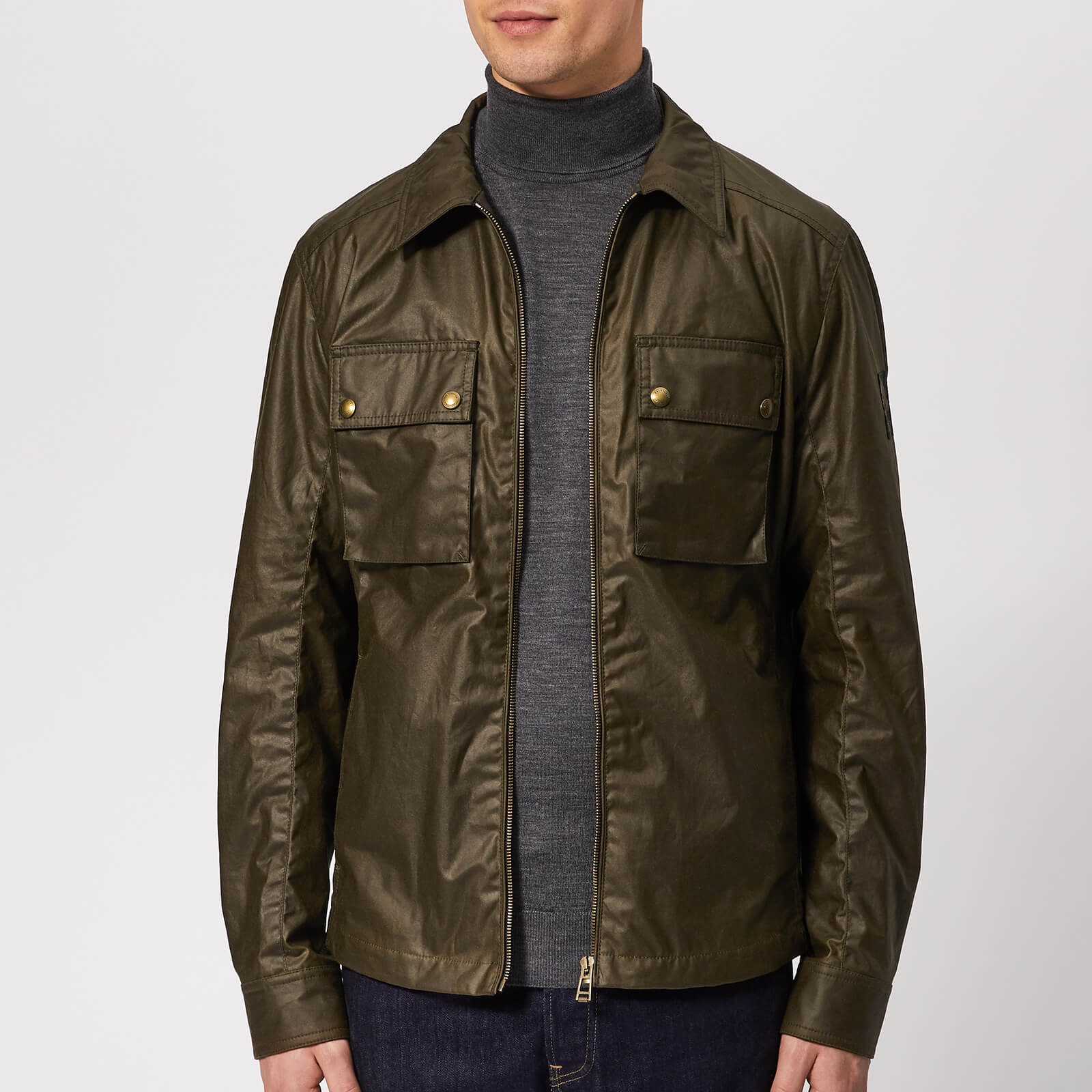 77998e95e7 Belstaff Men's Dunstall Jacket - Faded Olive - Free UK Delivery over £50