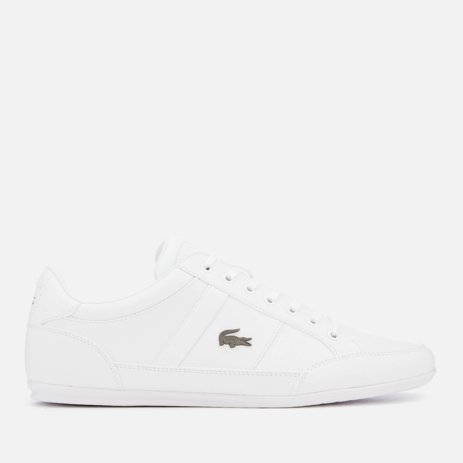 f8345e3ff192 Lacoste Men s Chaymon Bl 1 Leather Low Profile Trainers - White White Mens  Footwear