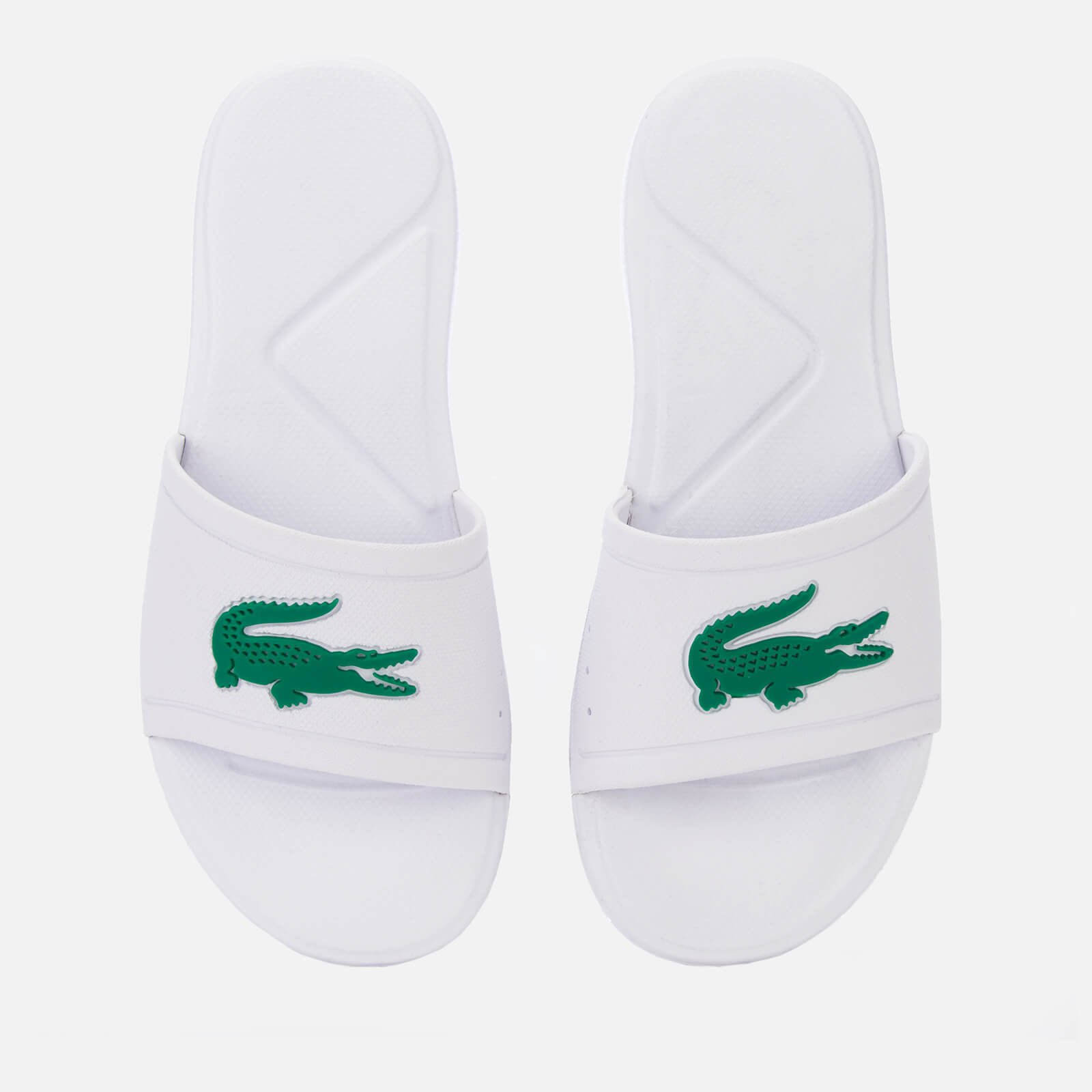 a55b1a731 Lacoste Kids  L.30 Slide 119 2 Sandals - White Green Junior Clothing ...