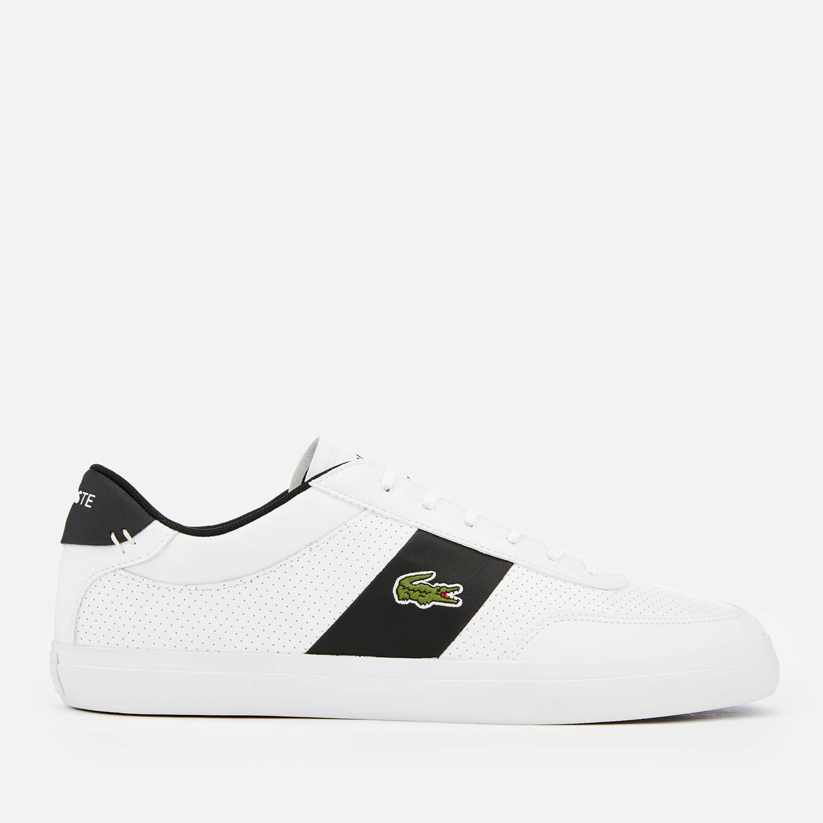 8a1cfdcd9 ... Lacoste Men s Court-Master 119 2 Perforated Leather Trainers - White  Black