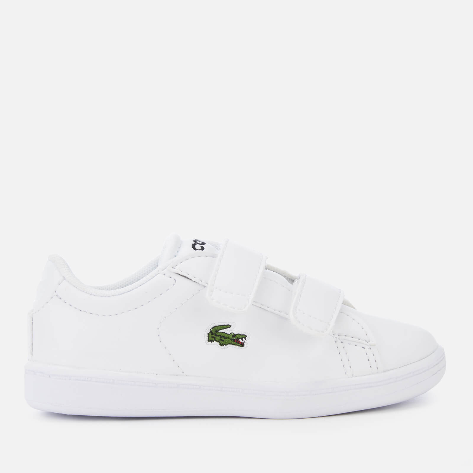 abf2e5b3a Lacoste Toddler s Carnaby Evo 119 7 Velcro Low Top Trainers - White White  Junior Clothing