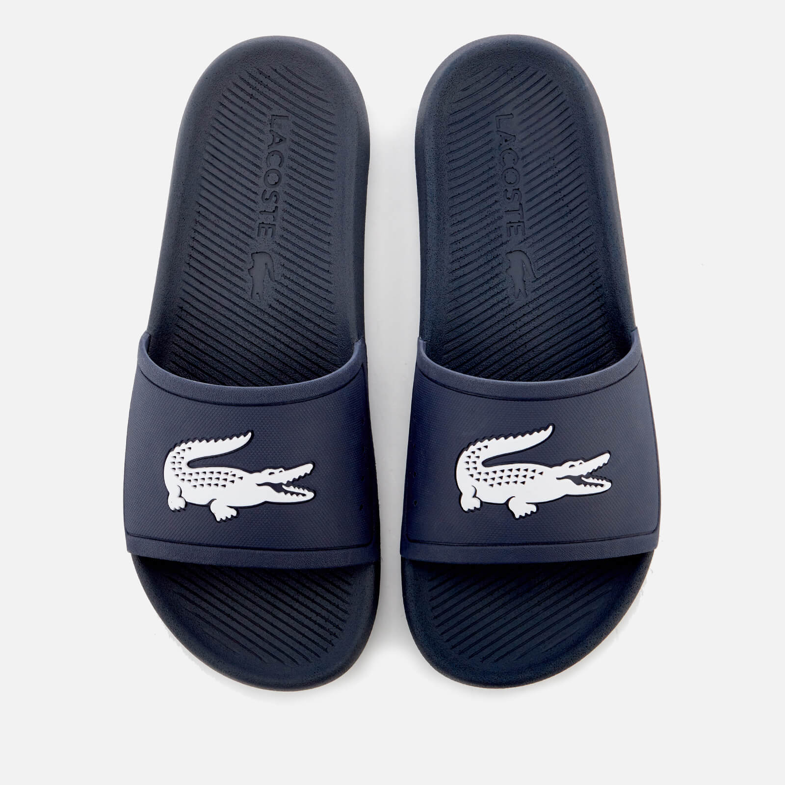 9d4d92fa5 Lacoste Men s Croco Slide 119 1 Sandals - Navy White Mens Footwear ...