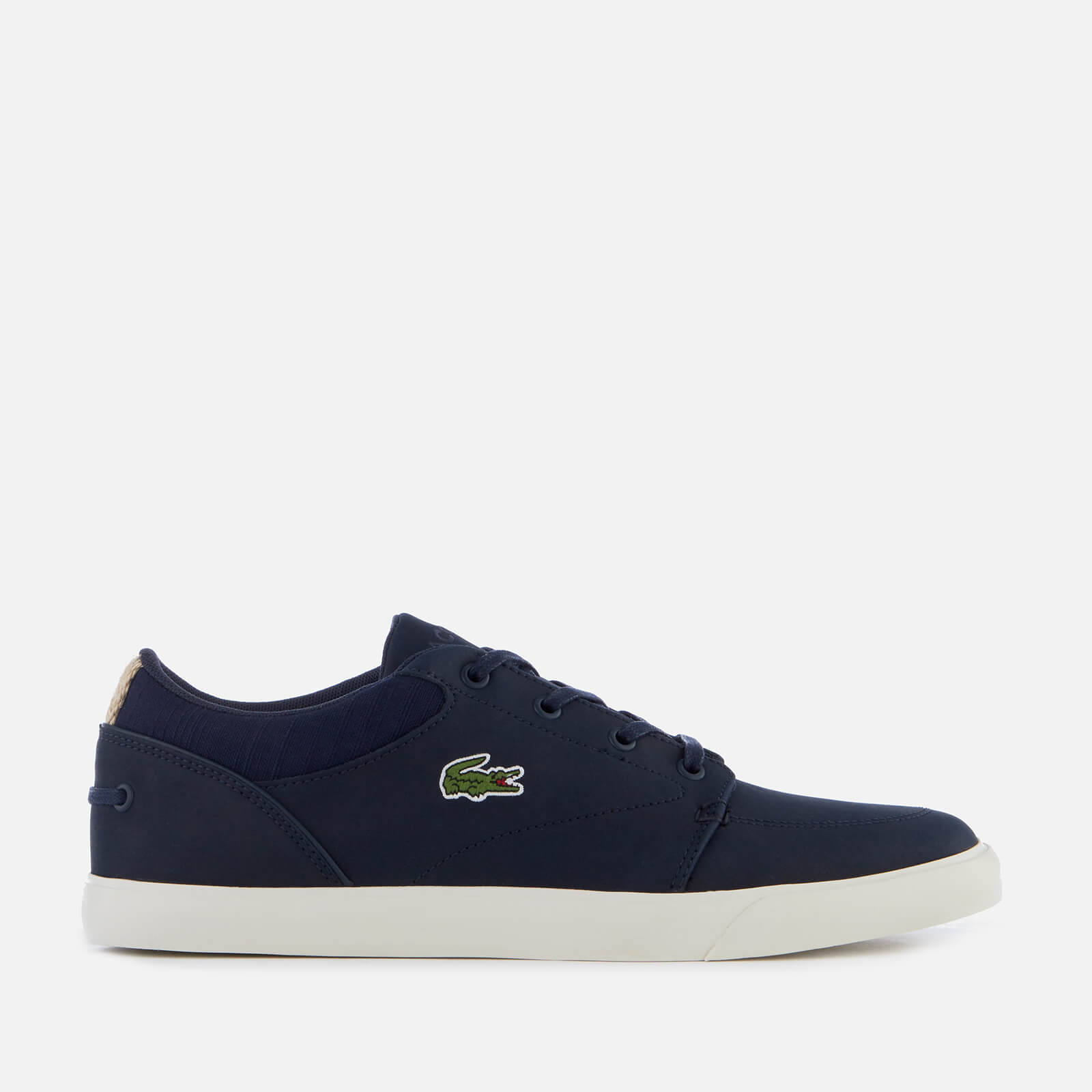 a1376c1665eb9 Lacoste Men's Bayliss 119 1 Leather Lace Up Trainers - Navy/Off White |  FREE UK Delivery | Allsole
