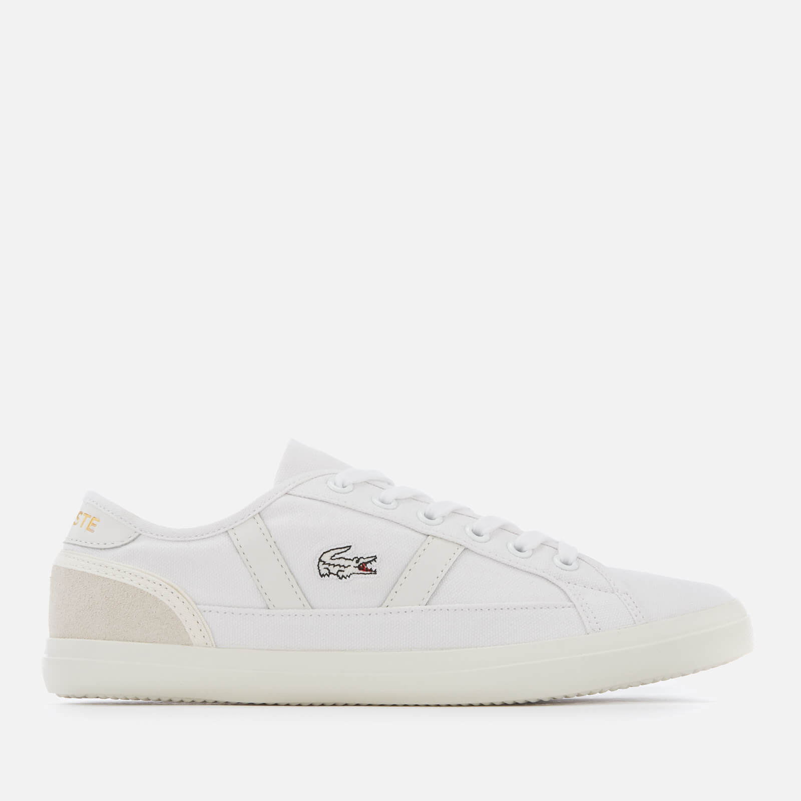 bef0c11291 Lacoste Women's Sideline 119 1 Canvas Vulcanised Trainers - White/Off White