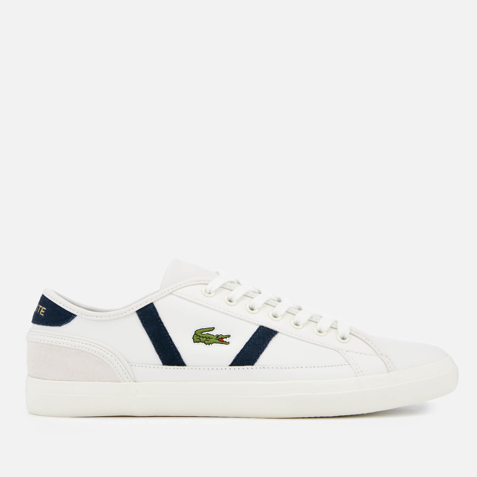 fecbbba41597a Lacoste Men's Sideline 119 3 Leather Trainers - Off White/Navy | FREE UK  Delivery | Allsole