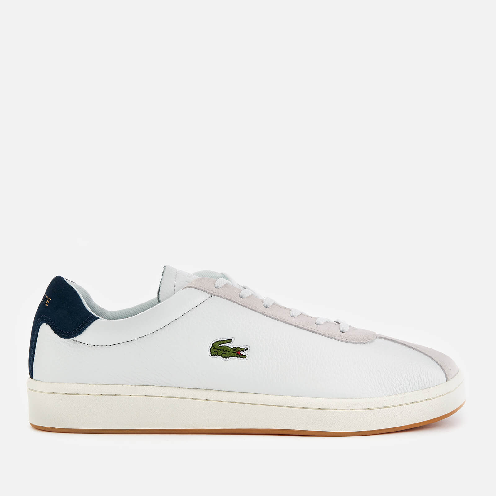 f0341de4018fa Lacoste Men's Masters 119 3 Leather/Suede Trainers - Off White/Navy Mens  Footwear | TheHut.com
