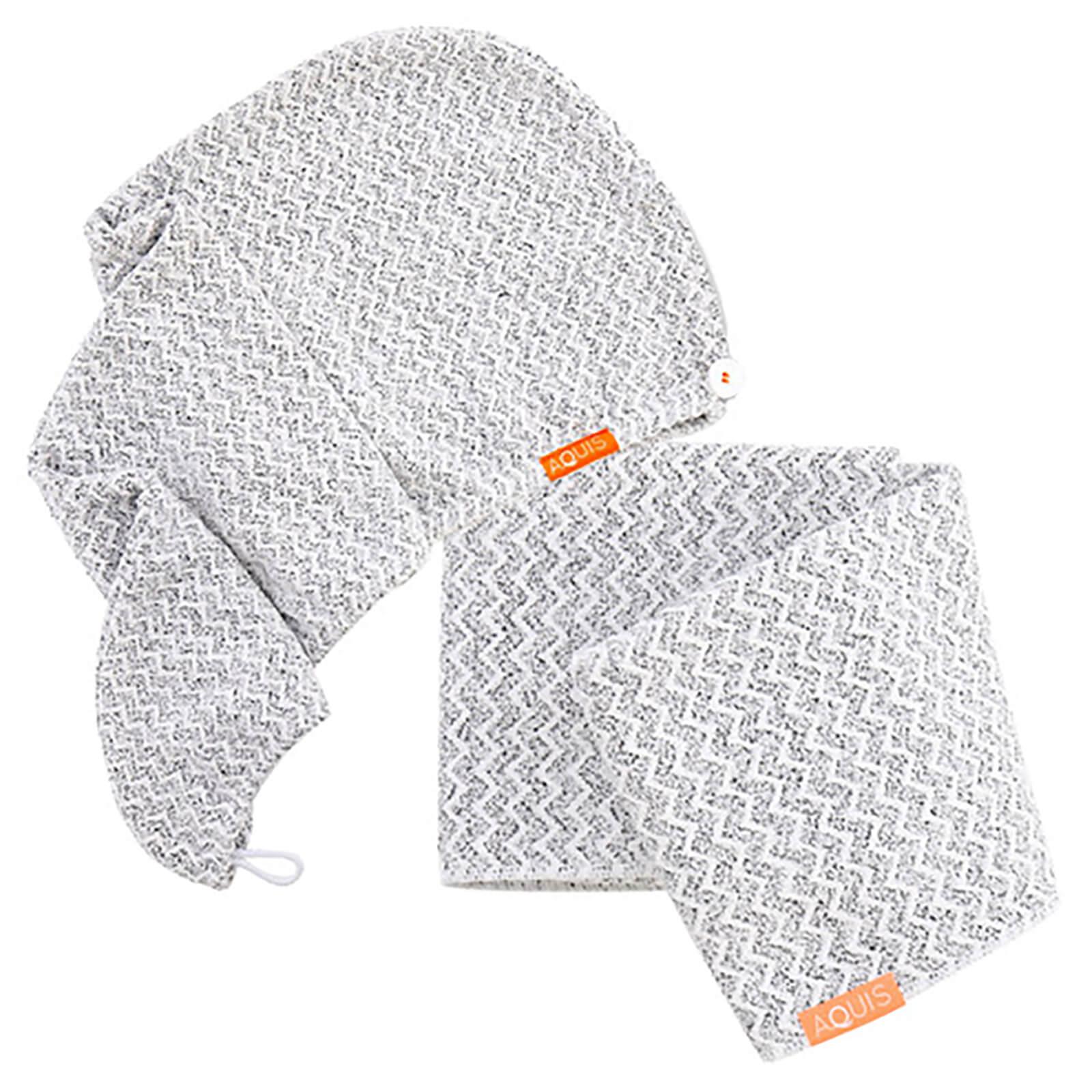 92183e11e4 Aquis Lisse Luxe Hair Turban and Hair Towel - Chevron (Worth £60.00) | Free  Shipping | Lookfantastic
