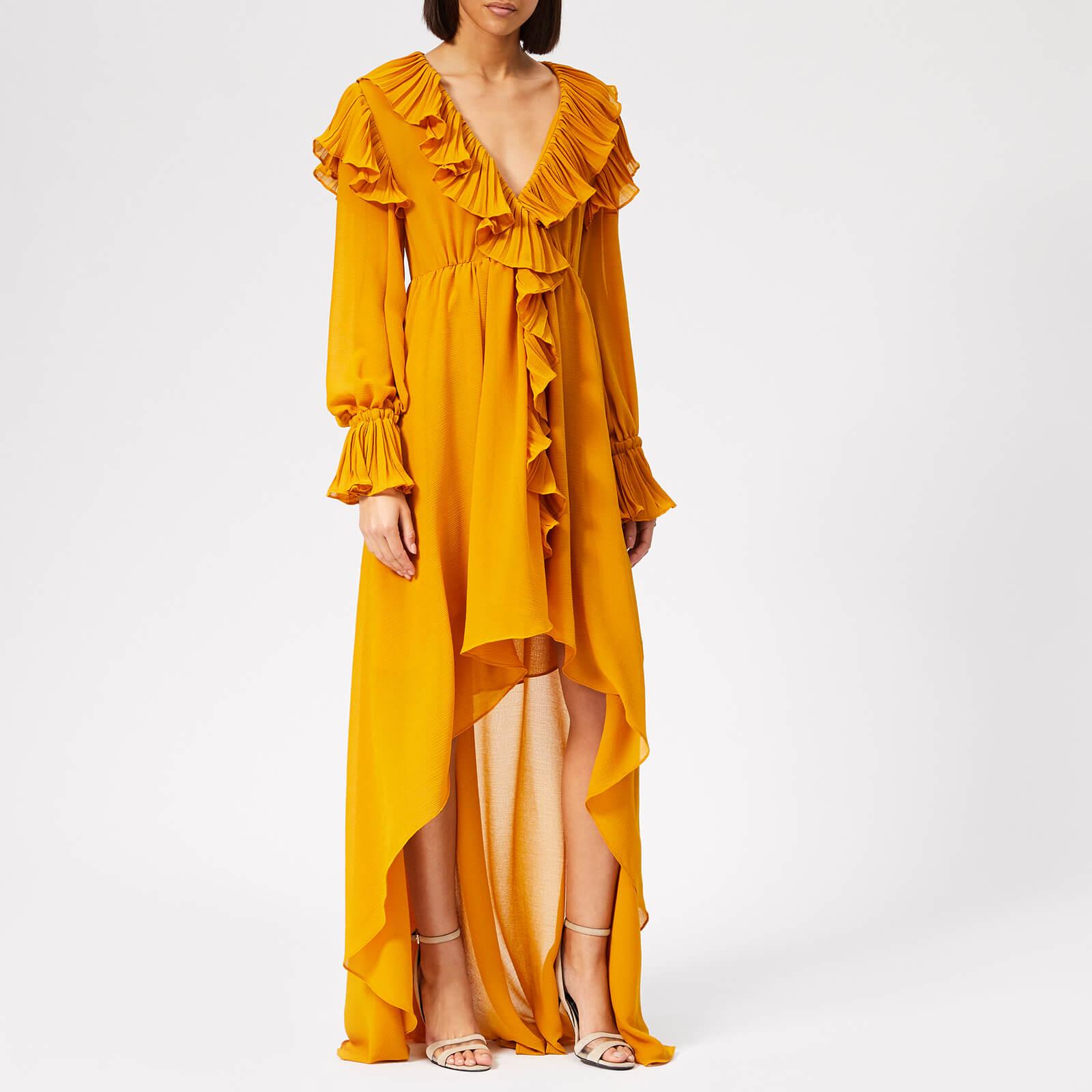 13bde734108b Philosophy di Lorenzo Serafini Women s Ruffle Detail Midi Dress - Yellow -  Free UK Delivery over £50