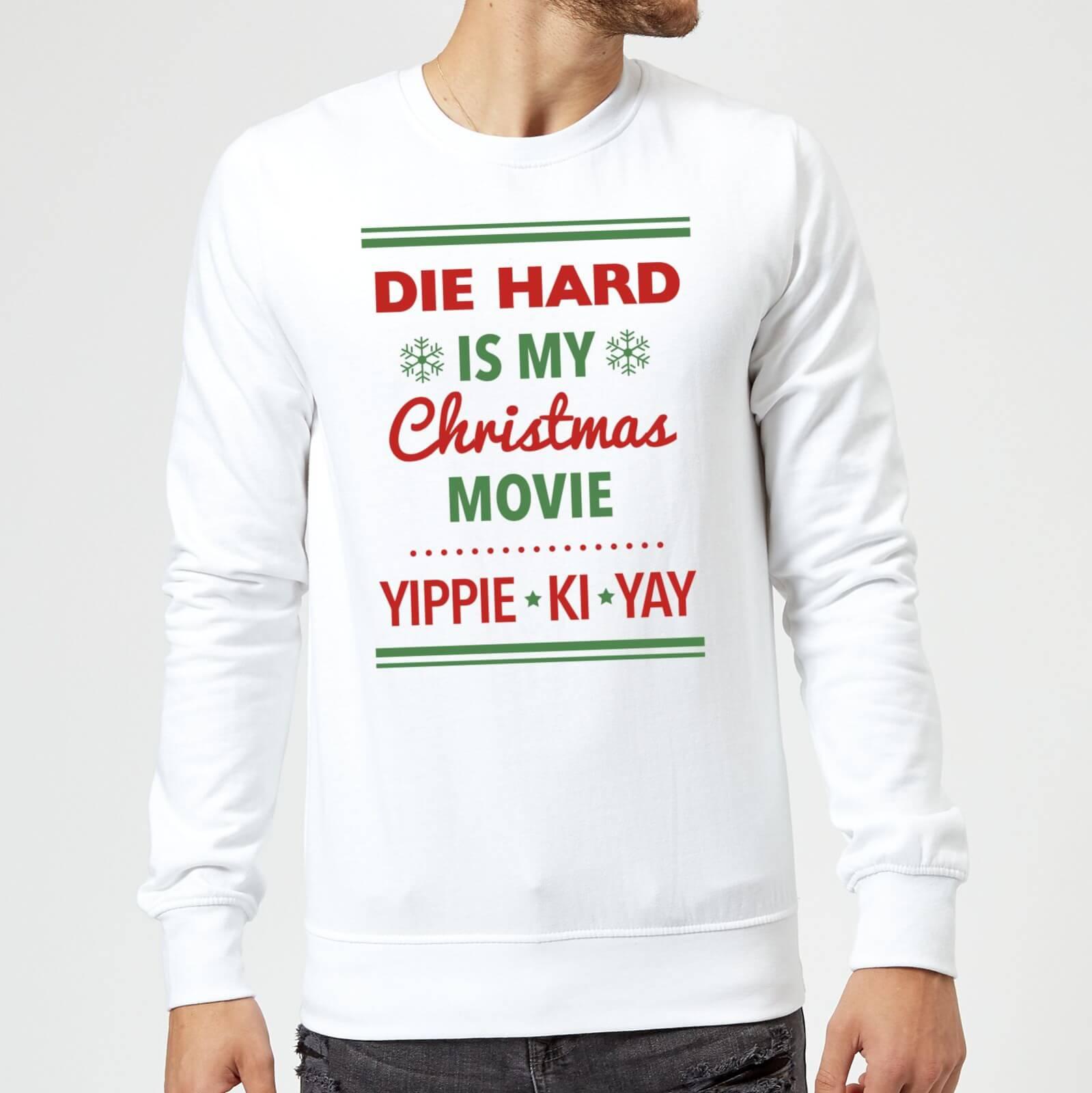 Die Hard Is My Christmas Movie Christmas Sweatshirt - White Clothing ...