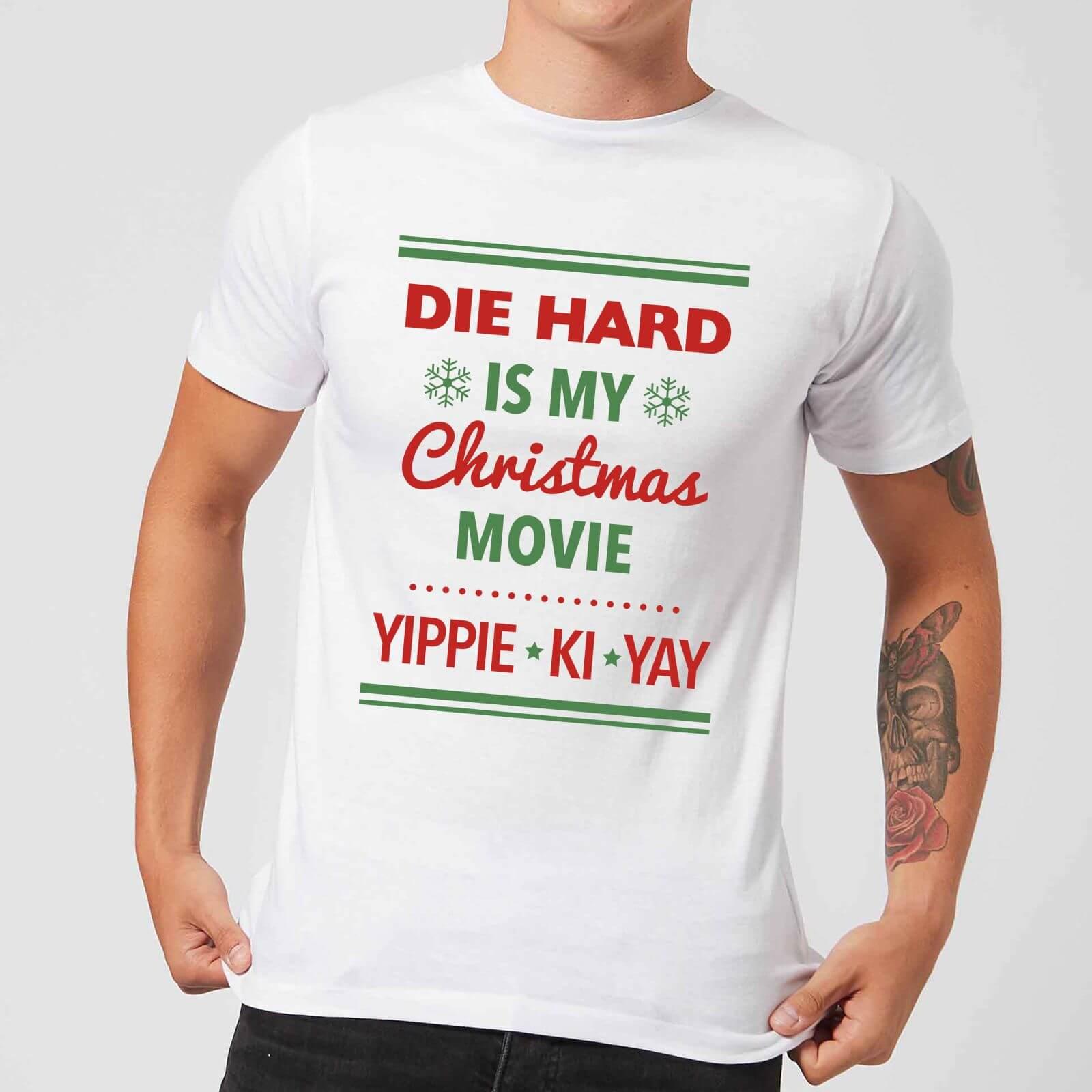 Die Hard Is My Christmas Movie Men\'s Christmas T-Shirt - White ...