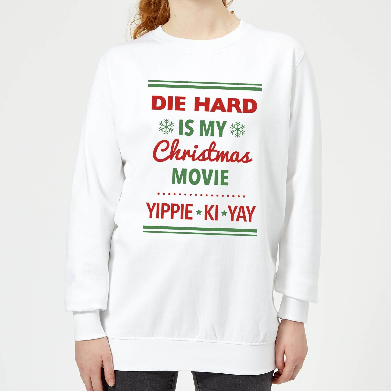Die Hard Is My Christmas Movie Women\'s Christmas Sweatshirt - White ...