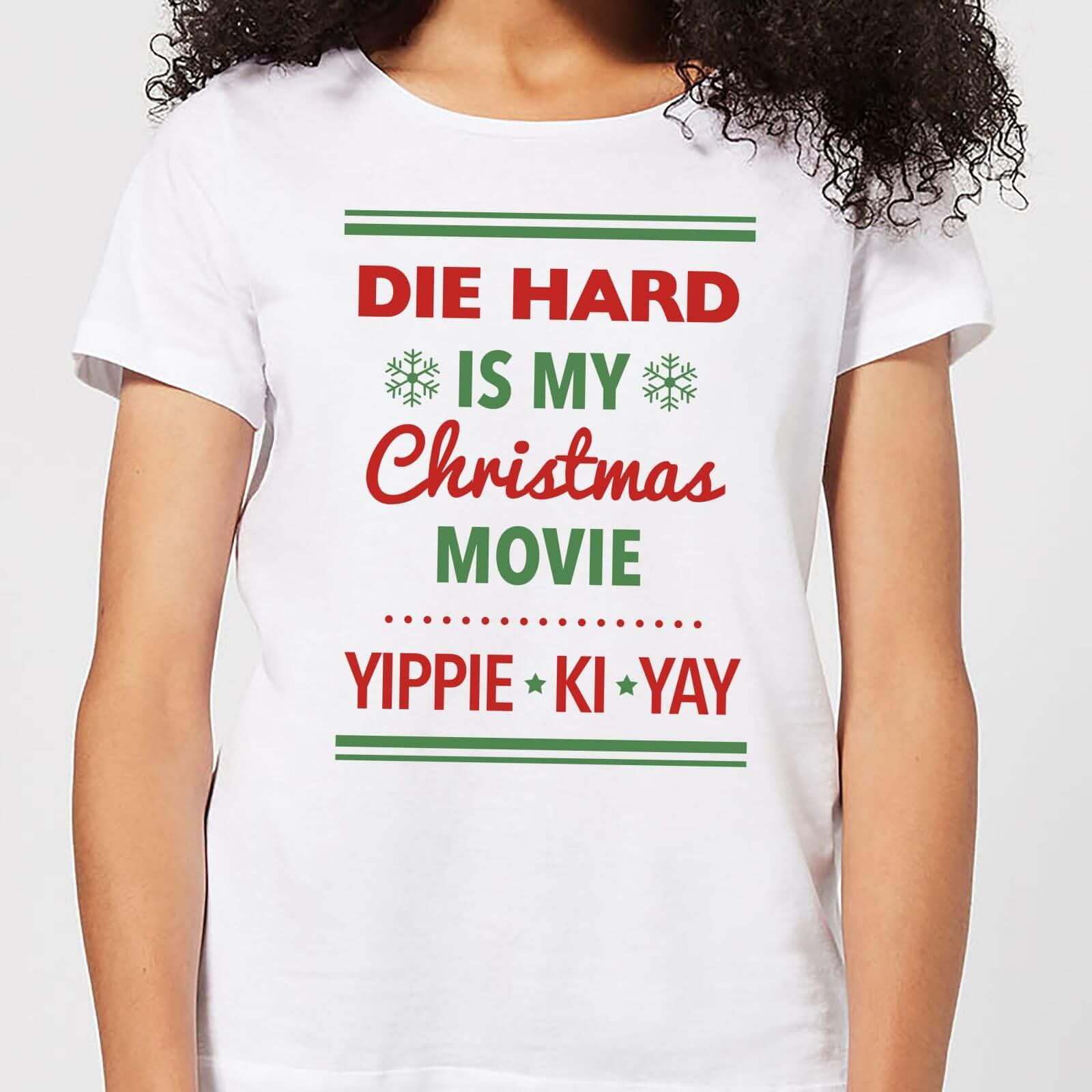 Die Hard Is My Christmas Movie Women\'s Christmas T-Shirt - White | IWOOT