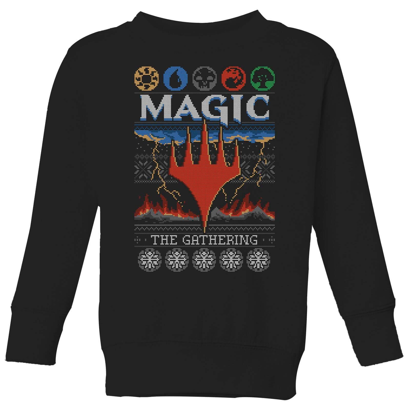 Black Sabbath Christmas Sweater.Magic The Gathering Colours Of Magic Knit Kids Christmas Sweatshirt Black