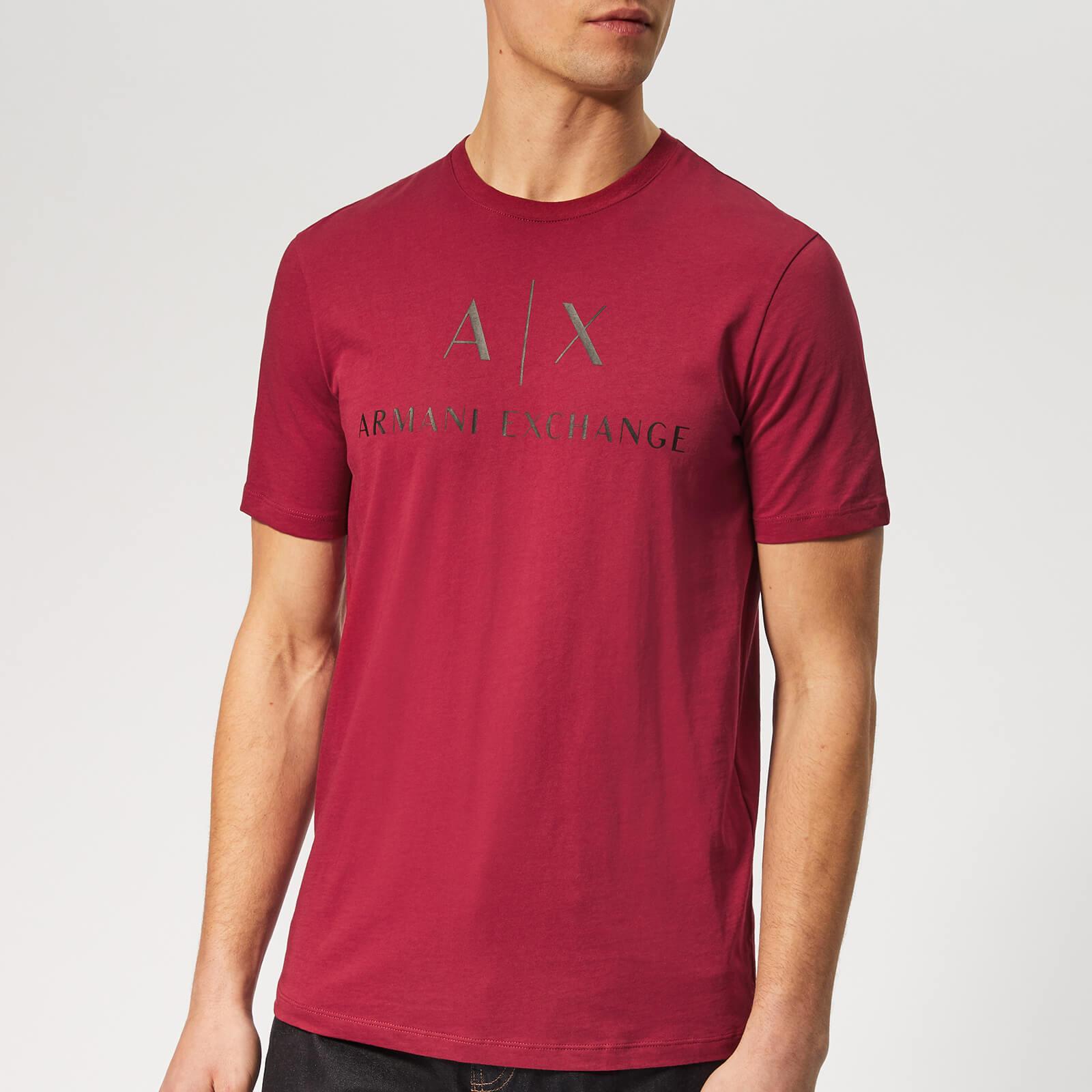 3776ef4f2df Armani Exchange Men s AX and Script Logo T-Shirt - Biking Red Clothing