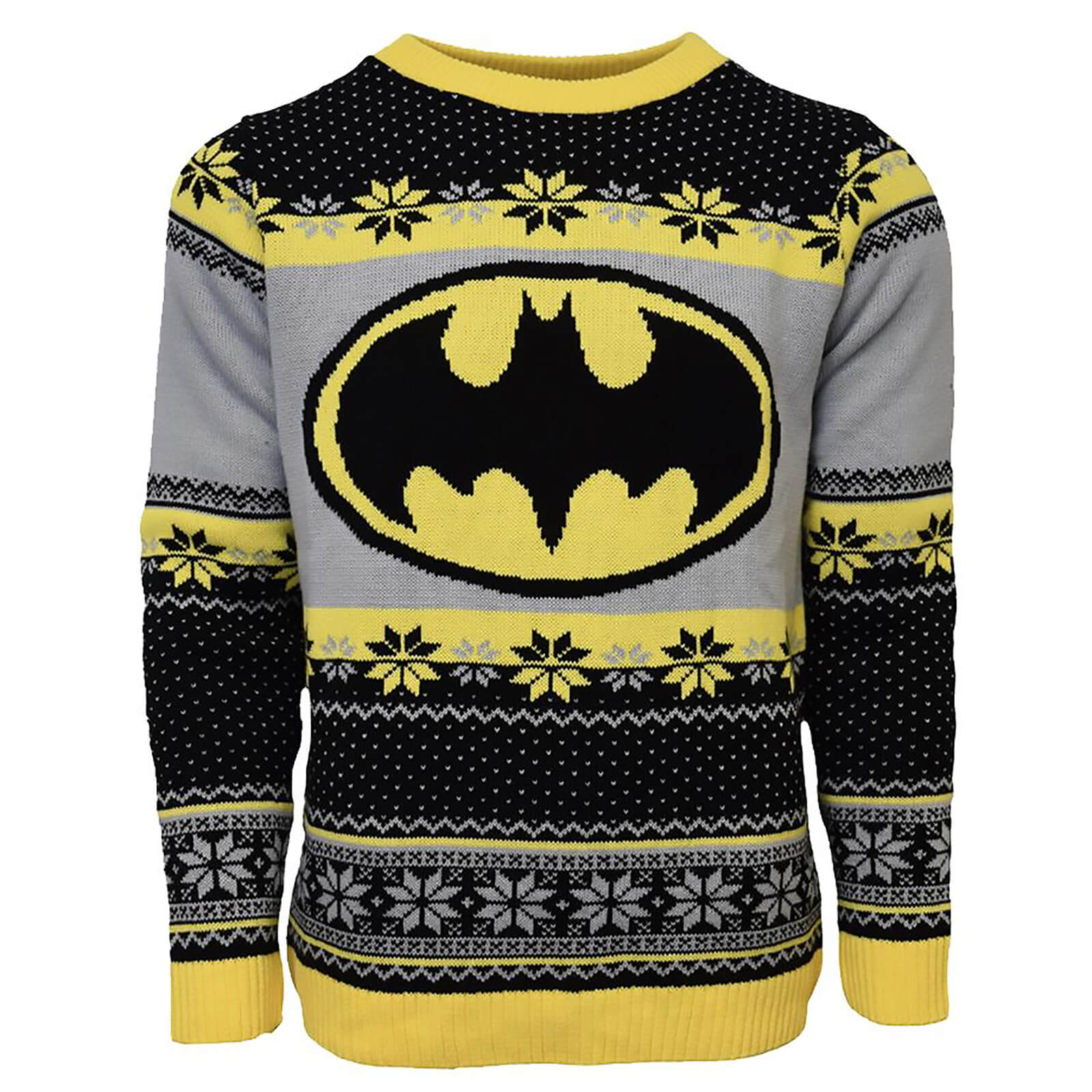 Xxxl Kersttrui.Batman Christmas Jumper Black Womens Clothing Zavvi
