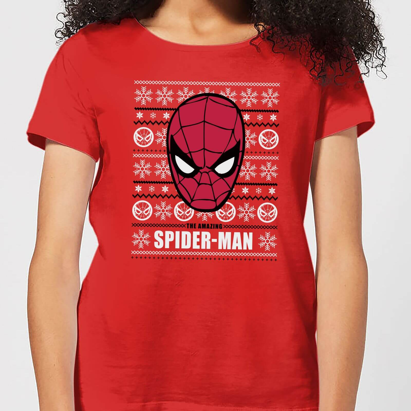 f0666f8c Marvel Spider-Man Women's Christmas T-Shirt - Red | IWOOT