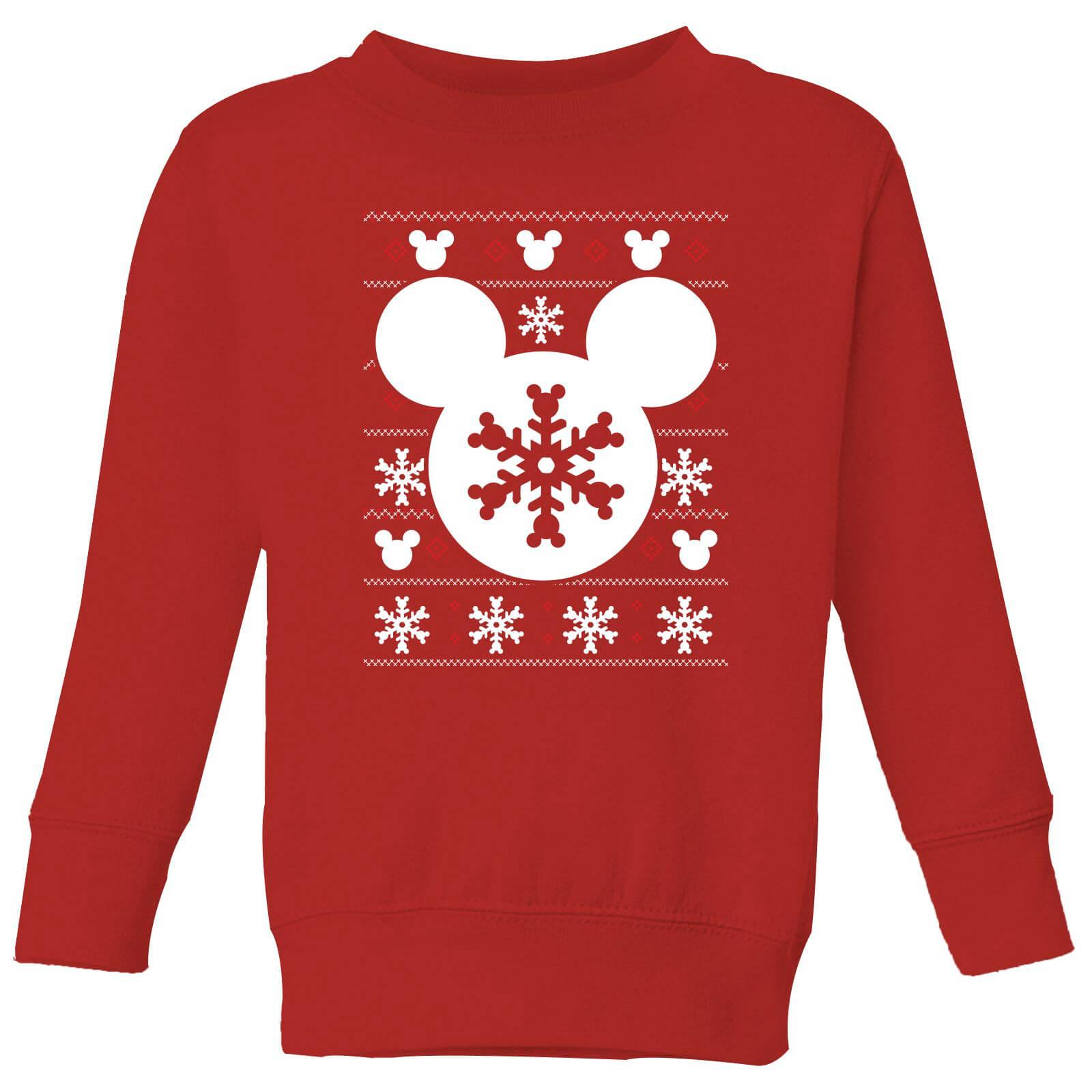Disney Snowflake Silhouette Kids Christmas Sweatshirt Red Clothing Zavvi Uk