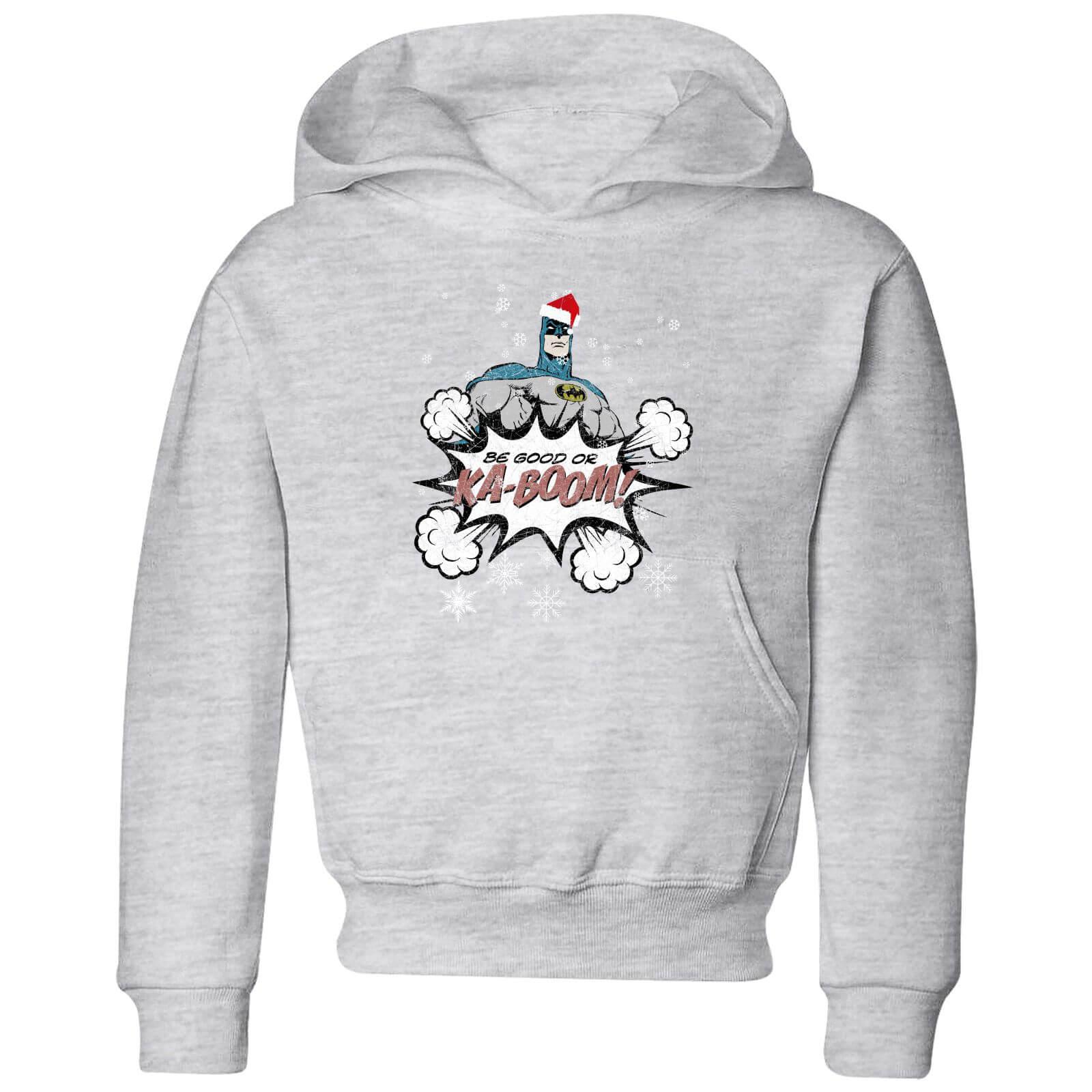 Christmas Hoodies.Dc Batman Be Good Kids Christmas Hoodie Grey