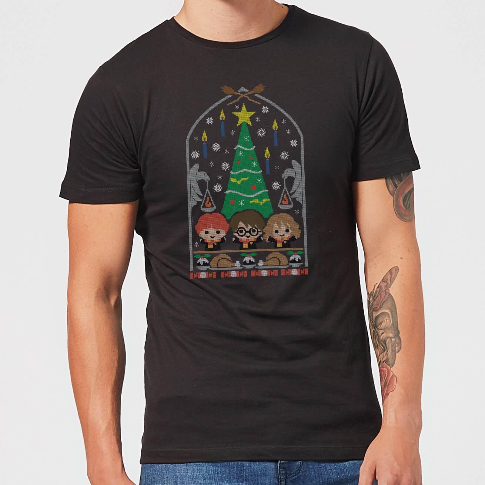 Harry Potter Christmas Shirt.Harry Potter Hogwarts Tree Men S Christmas T Shirt Black