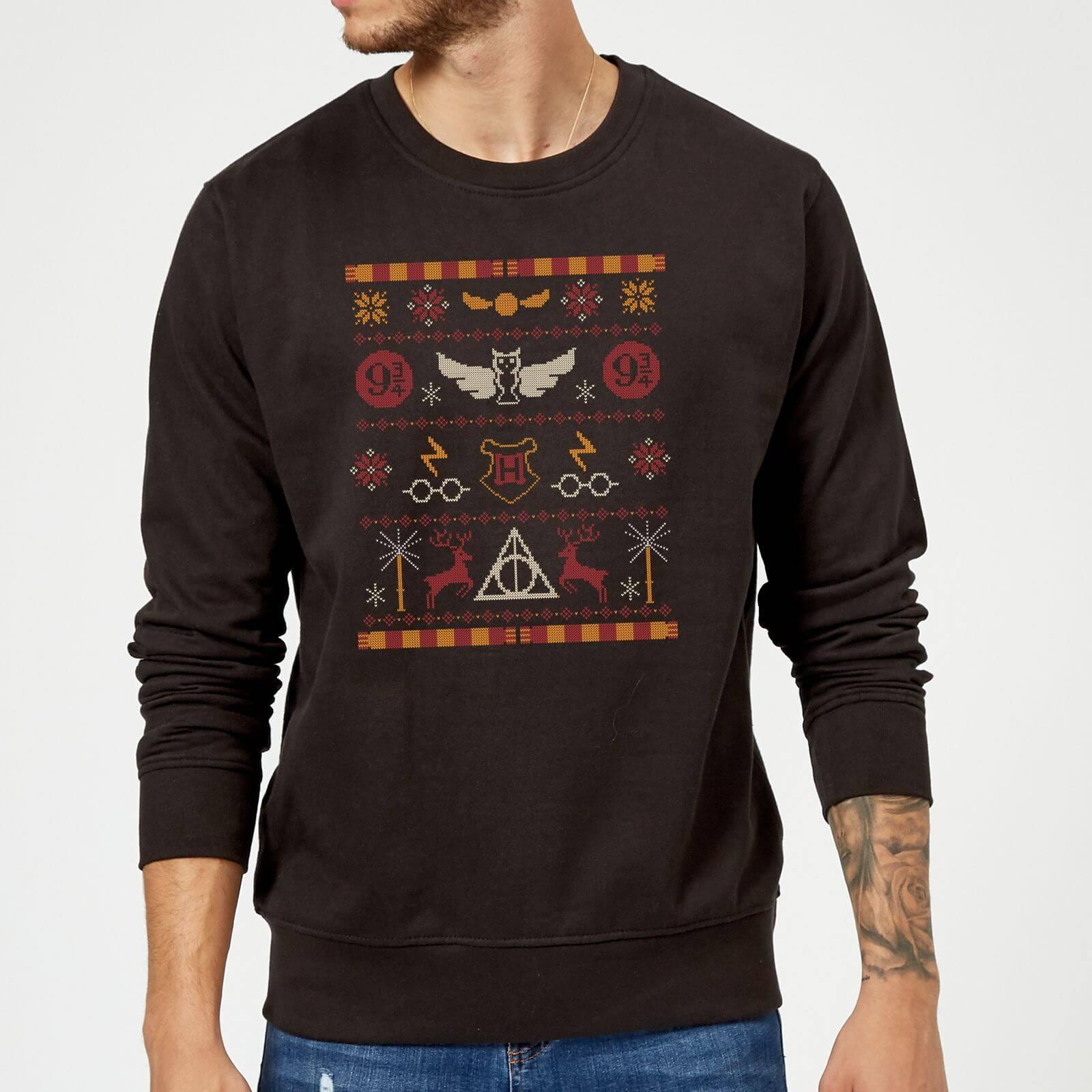 Harry Potter Knit Christmas Sweatshirt Black Iwoot