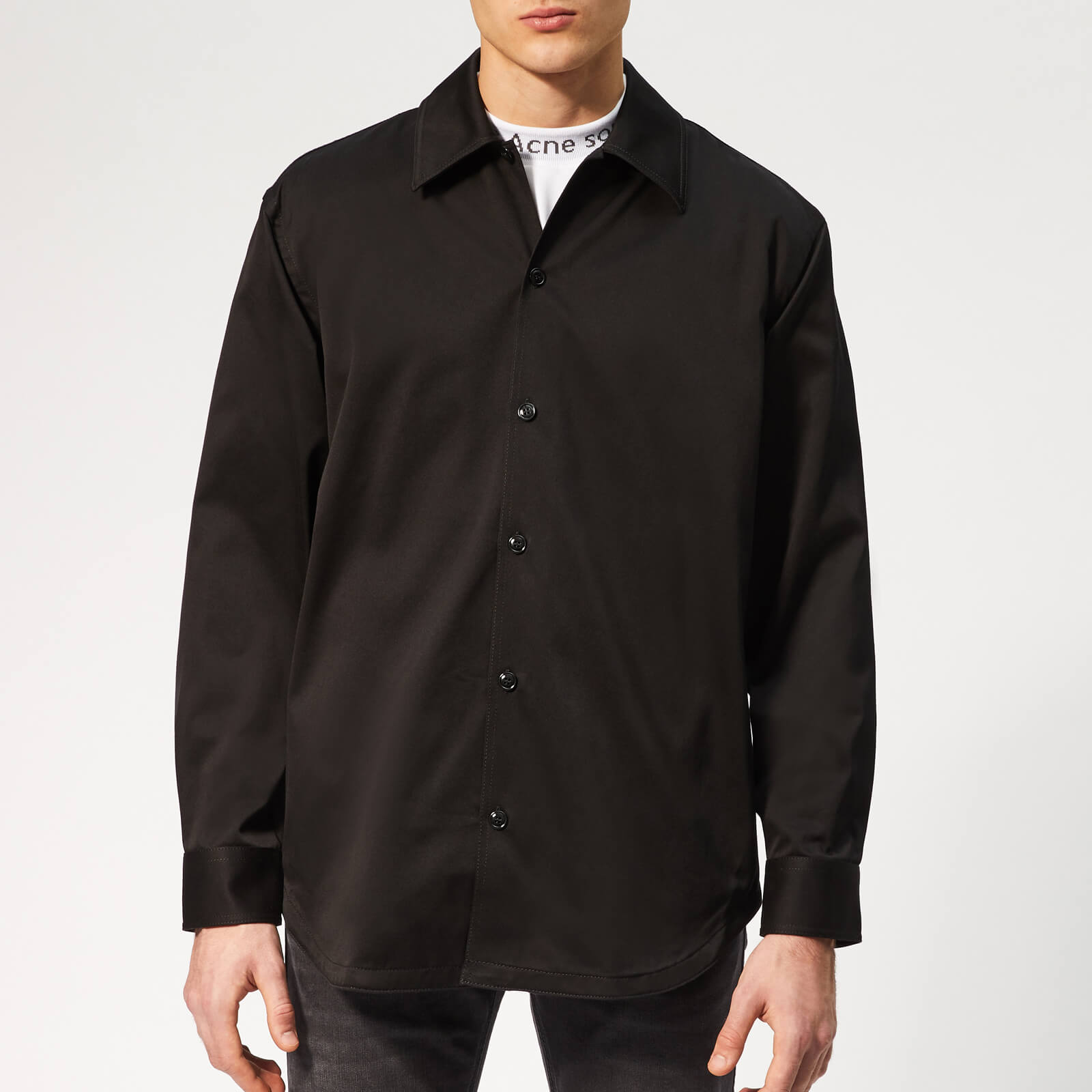 bfb8d48b30 Acne Studios Men s Houston Oversized Shirt - Black - Free UK Delivery over £ 50