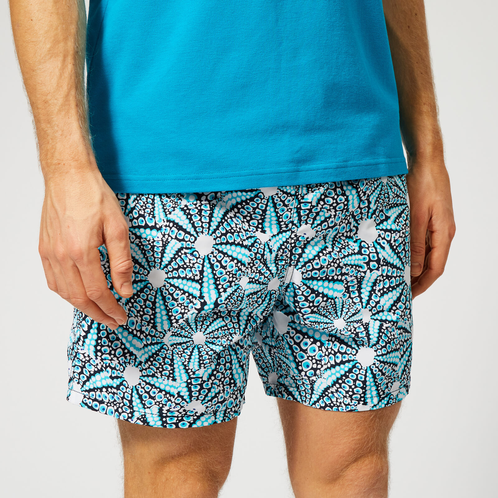 99f2ed00f1 Vilebrequin Men's Moorea Urchin Print Swim Shorts - Navy - Free UK Delivery  over £50