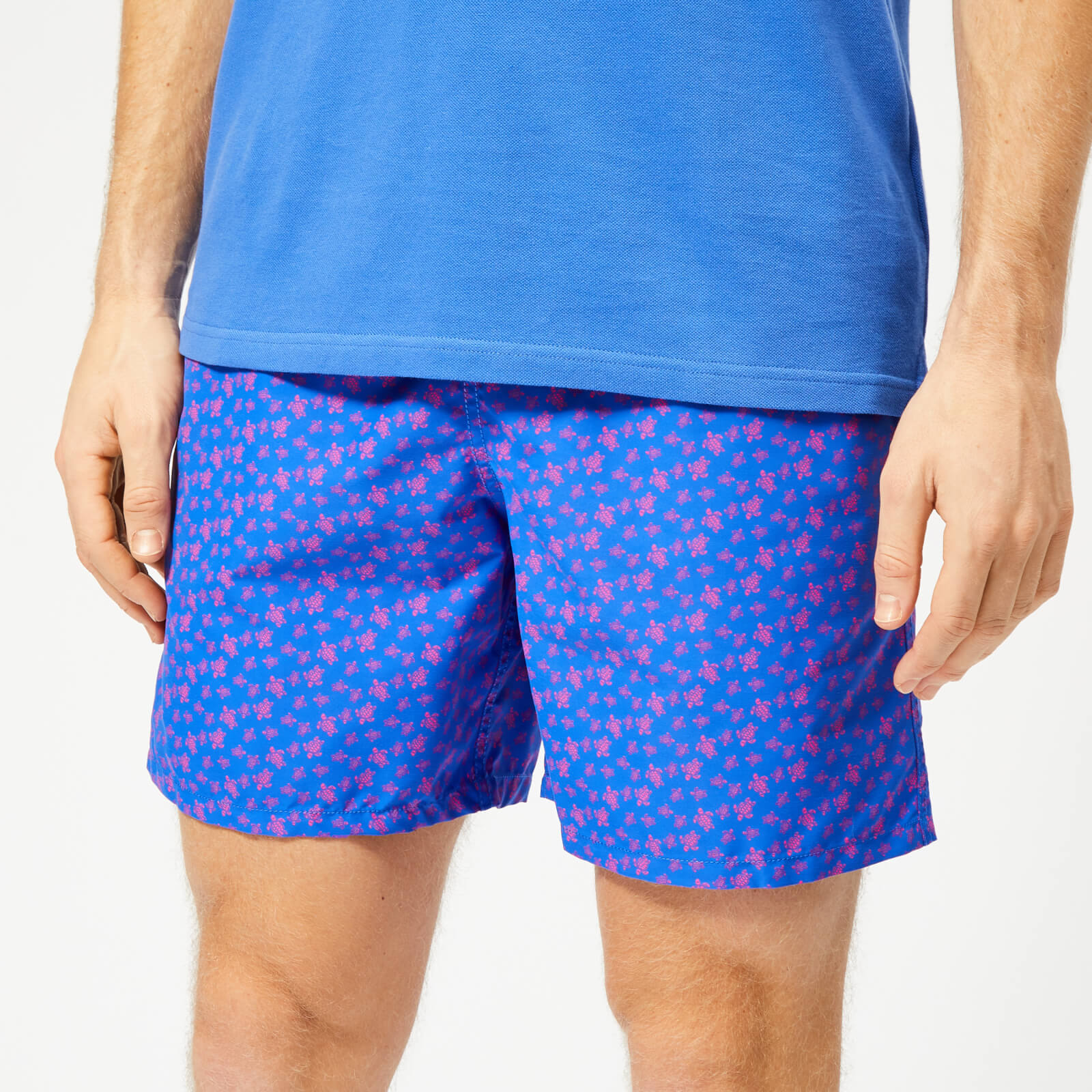 029159682f Vilebrequin Men's Moorea Small Turtles Swim Shorts - Sea Blue - Free UK  Delivery over £50