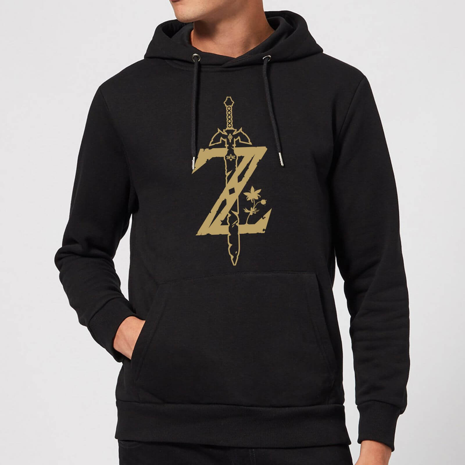 7d053133 Nintendo Legend Of Zelda Master Sword Hoodie - Black Clothing | Zavvi
