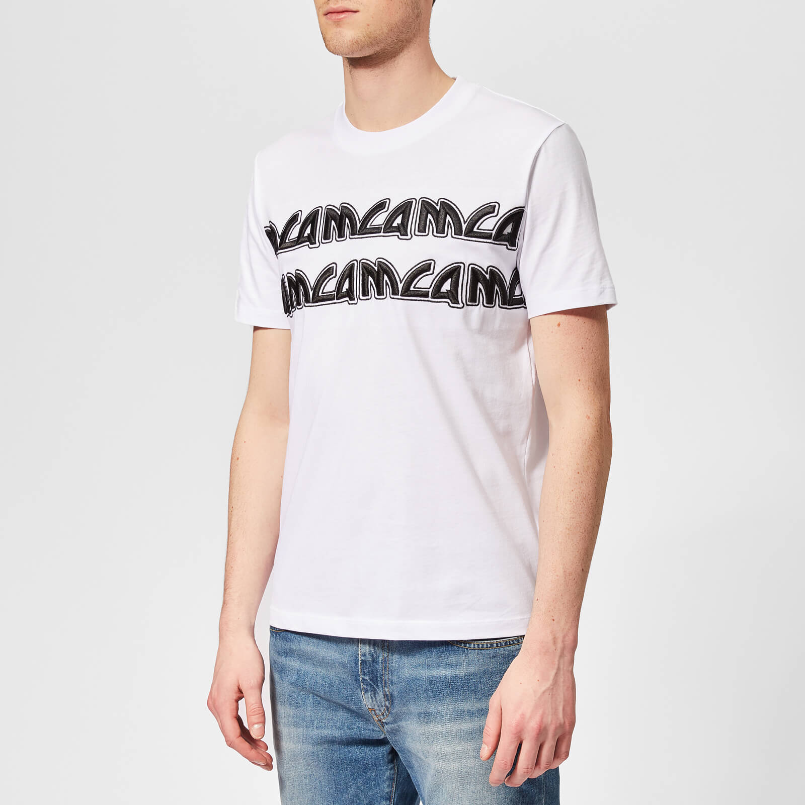 0c6a6ad4 McQ Alexander McQueen Men's Metal Logo T-Shirt - Optic White - Free UK  Delivery over £50