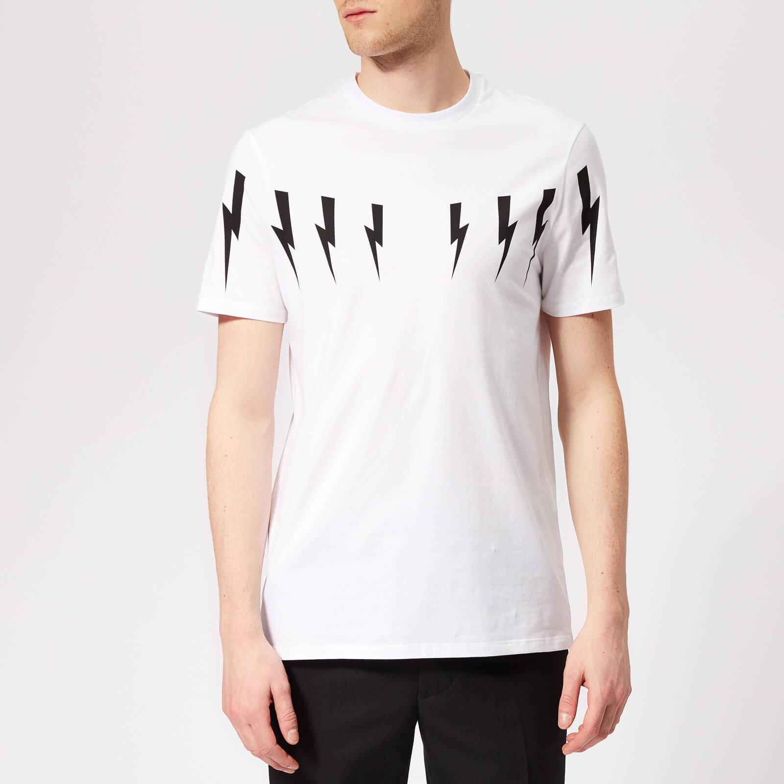 bcd61b8d Neil Barrett Men's Bolt Wings T-Shirt - White/Black - Free UK Delivery over  £50