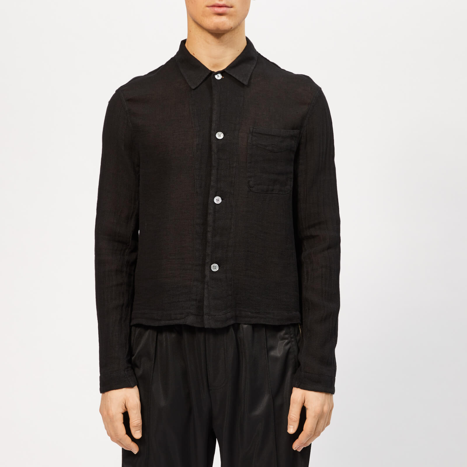7d1549b12978a Our Legacy Men s Shrunken Shirt - Black Cloth - Free UK Delivery over £50
