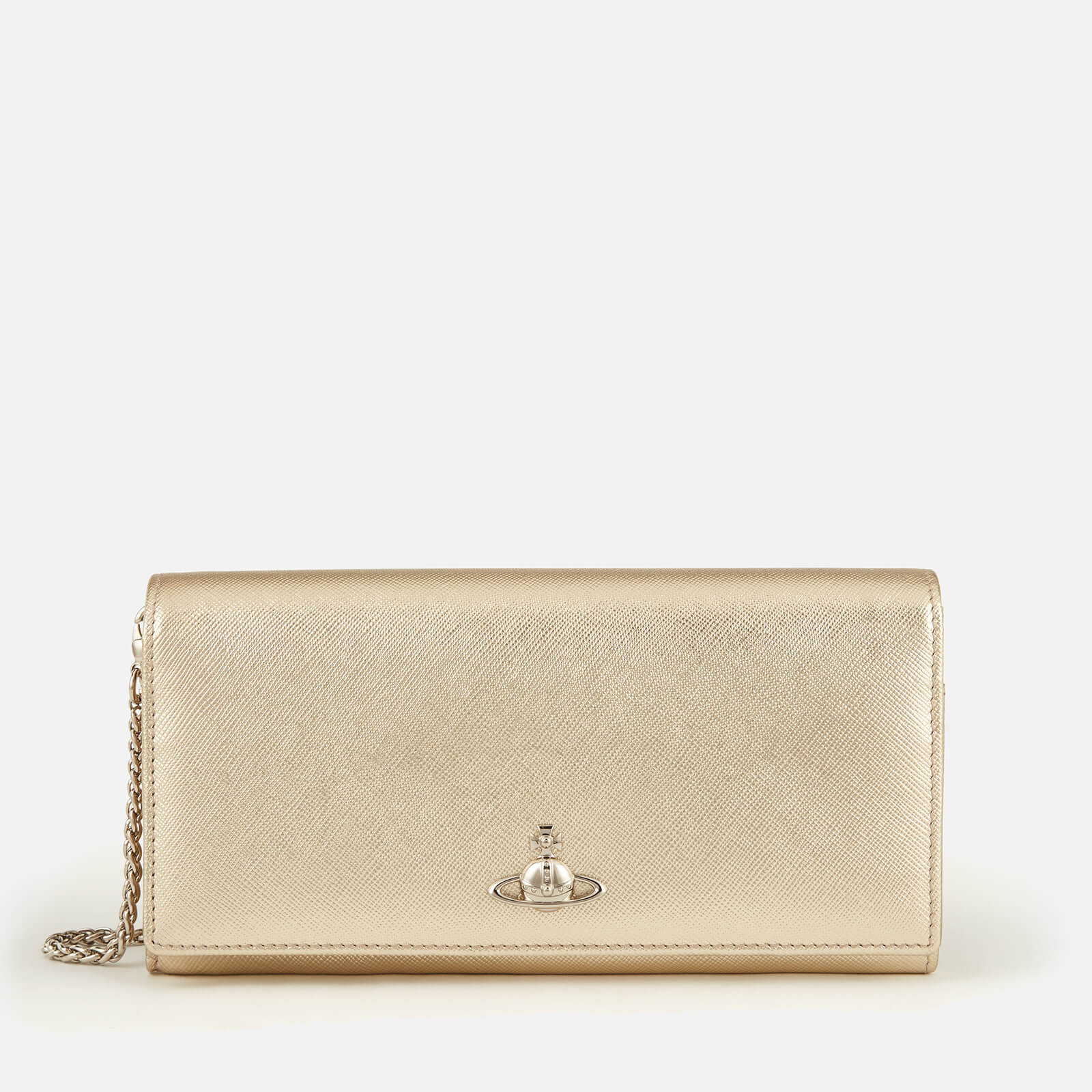 20b6fee85ee ... vivienne westwood women s pimlico long wallet with chain gold ...