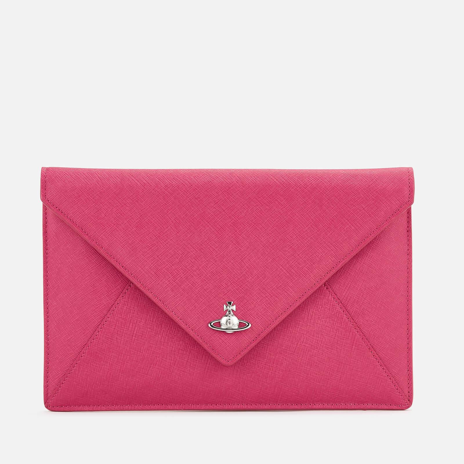 265c386afa1f Vivienne Westwood Women s Victoria Envelope Clutch Bag - Pink - Free ...