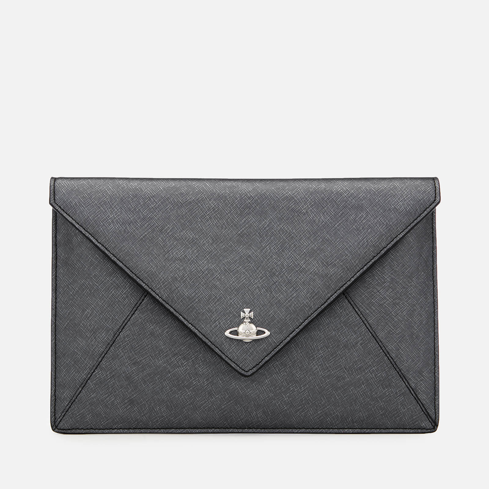 393e76e816d Vivienne Westwood Women's Victoria Envelope Clutch Bag - Anthracite - Free  UK Delivery over £50