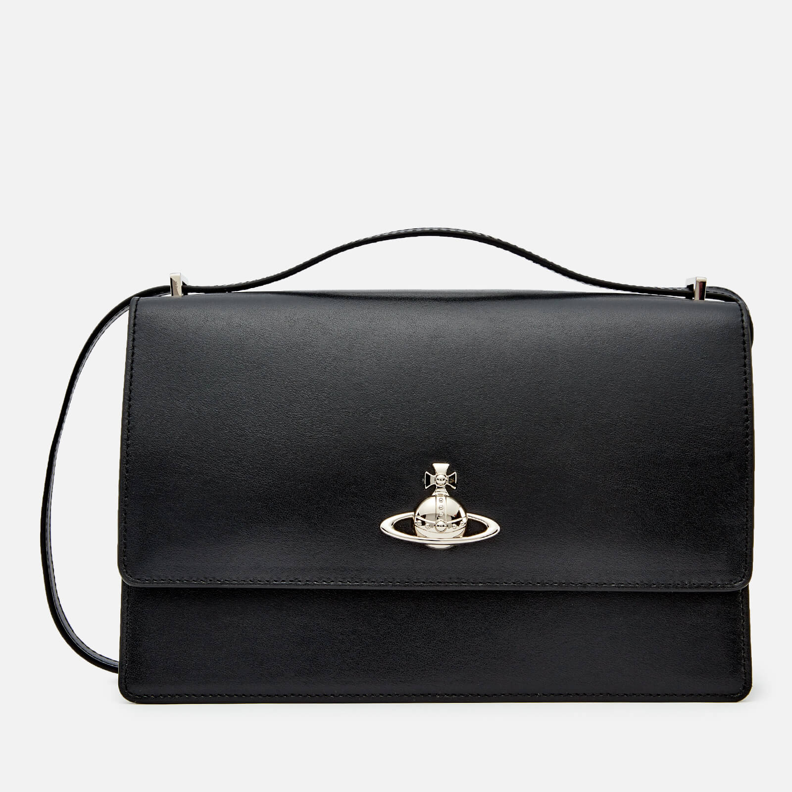 c8fdce7d5b2f Vivienne Westwood Women's Matilda Large Bag with Flap - Black - Free UK  Delivery over £50