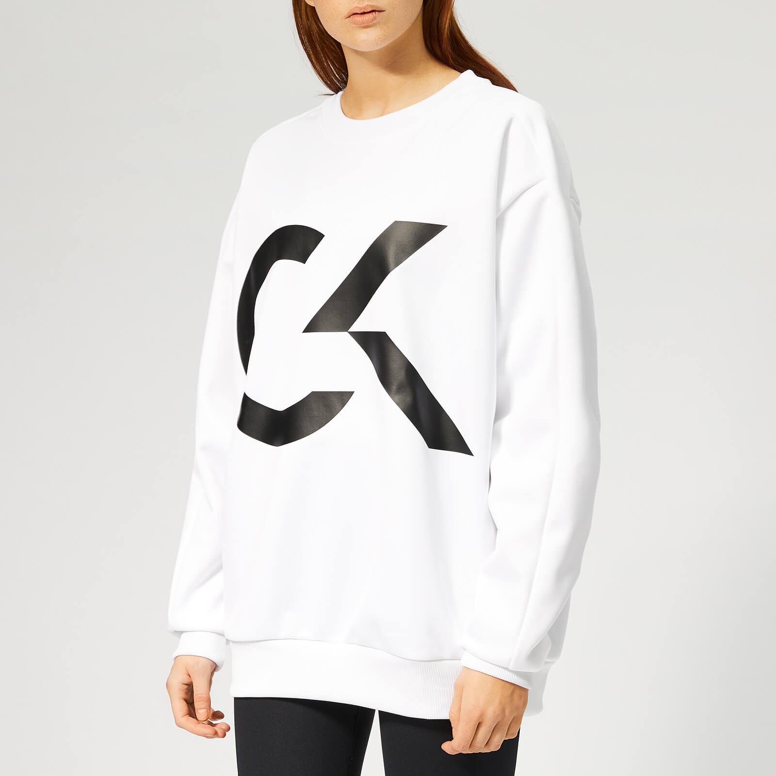 autorisierte Website attraktive Farbe modisches und attraktives Paket Calvin Klein Performance Women's Pullover Sweatshirt - Bright White
