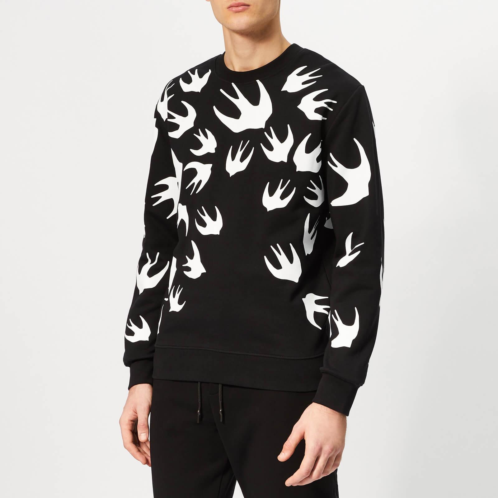 229b9b29c41 McQ Alexander McQueen Men s Swallow Swarm Pigment Sweatshirt - Darkest Black  - Free UK Delivery over £50