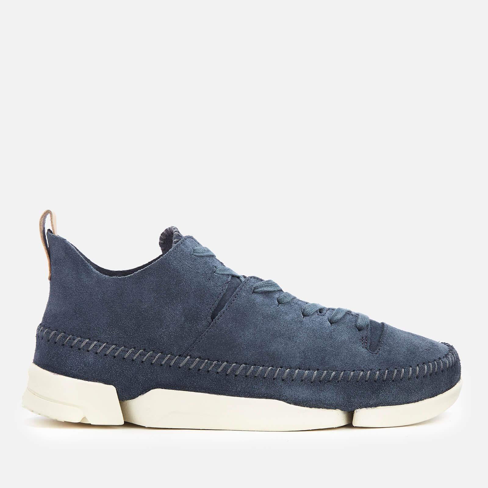 65b6c3d72 Clarks Originals Men s Trigenic Flex Suede Trainers - Deep Blue Mens  Footwear