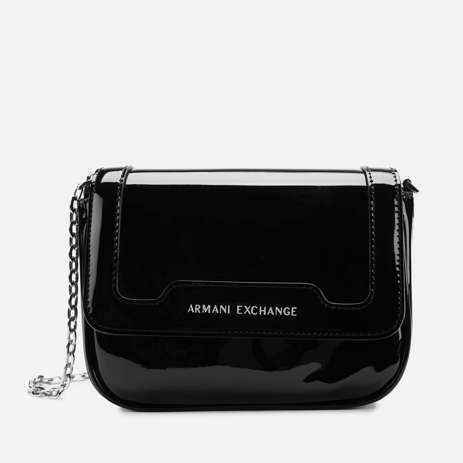 a283d934fe Armani Exchange Women's Patent Small Cross Body Bag - Black