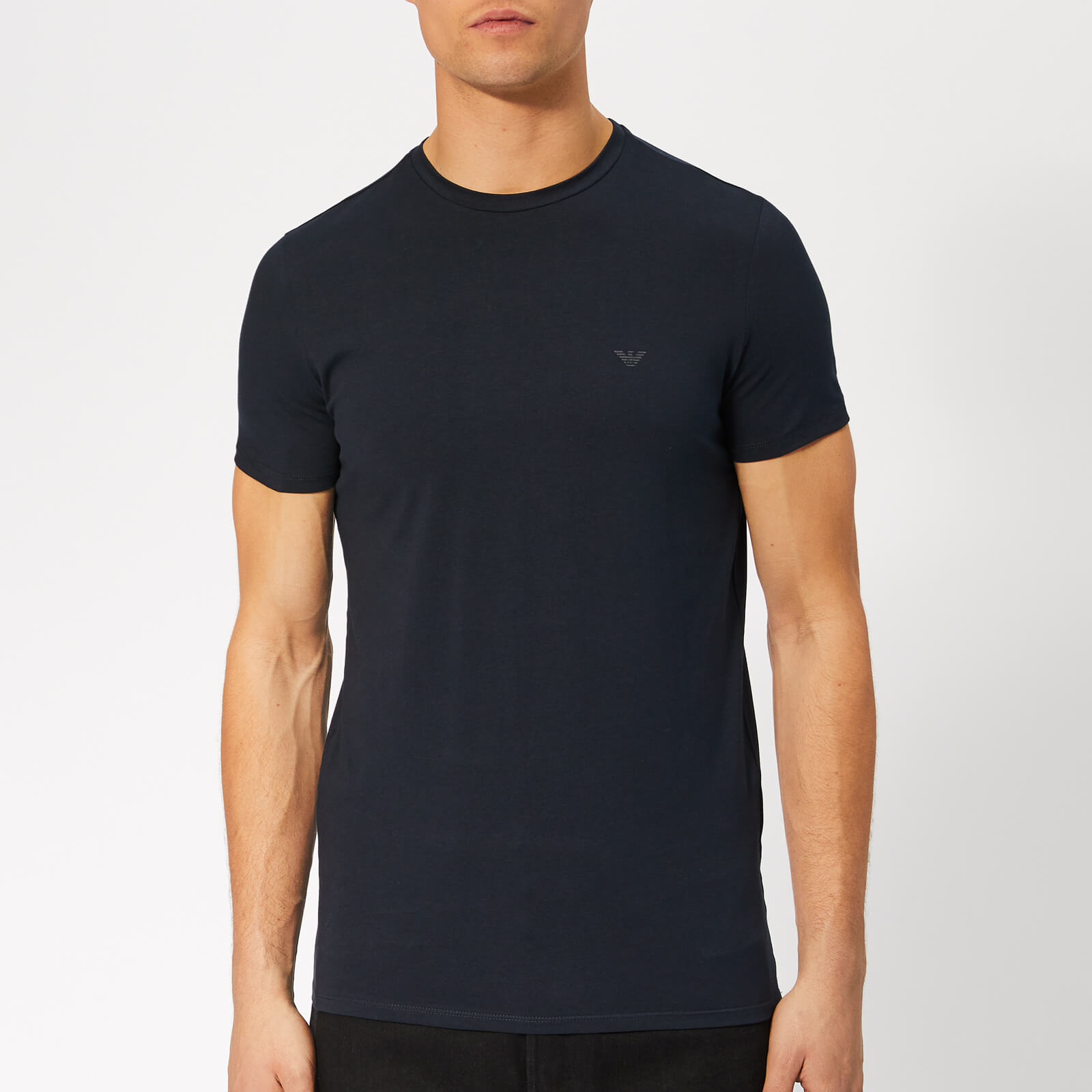 d4423d1d1feb Emporio Armani Men's Small Chest Logo T-Shirt - Blue Scuro - Free UK  Delivery over £50